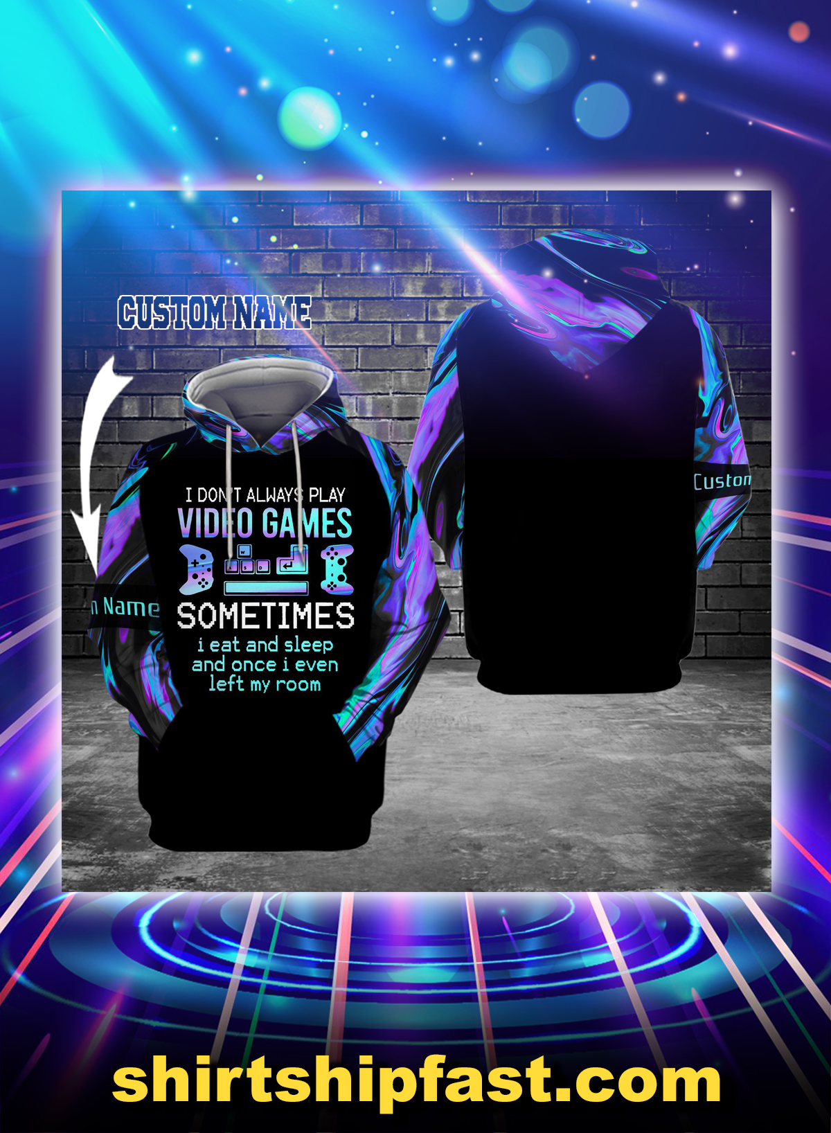 I don't always play video games personalized custom name 3d hoodie - Picture 1