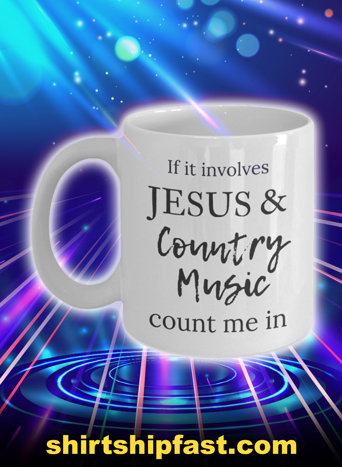 If it involves jesus and country music count me in mug - Picture 1
