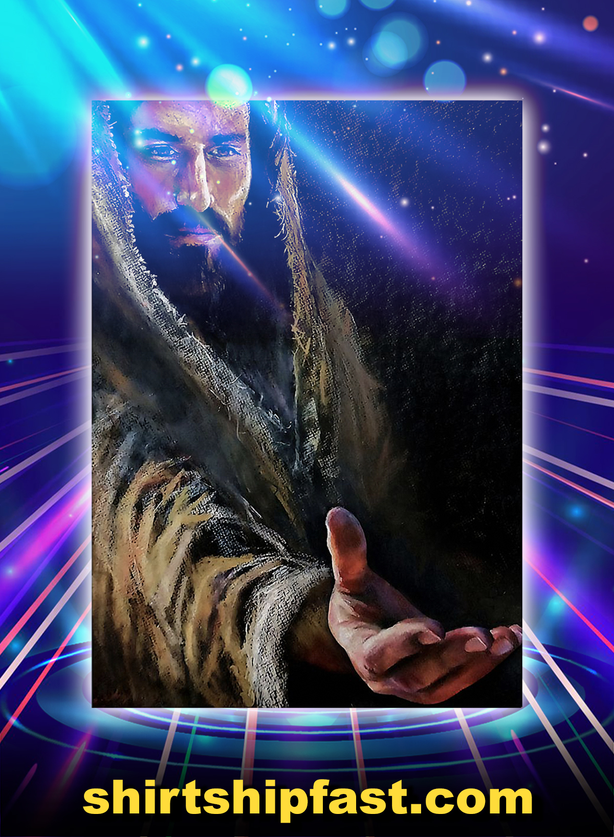 Jesus reaching hand poster - A1