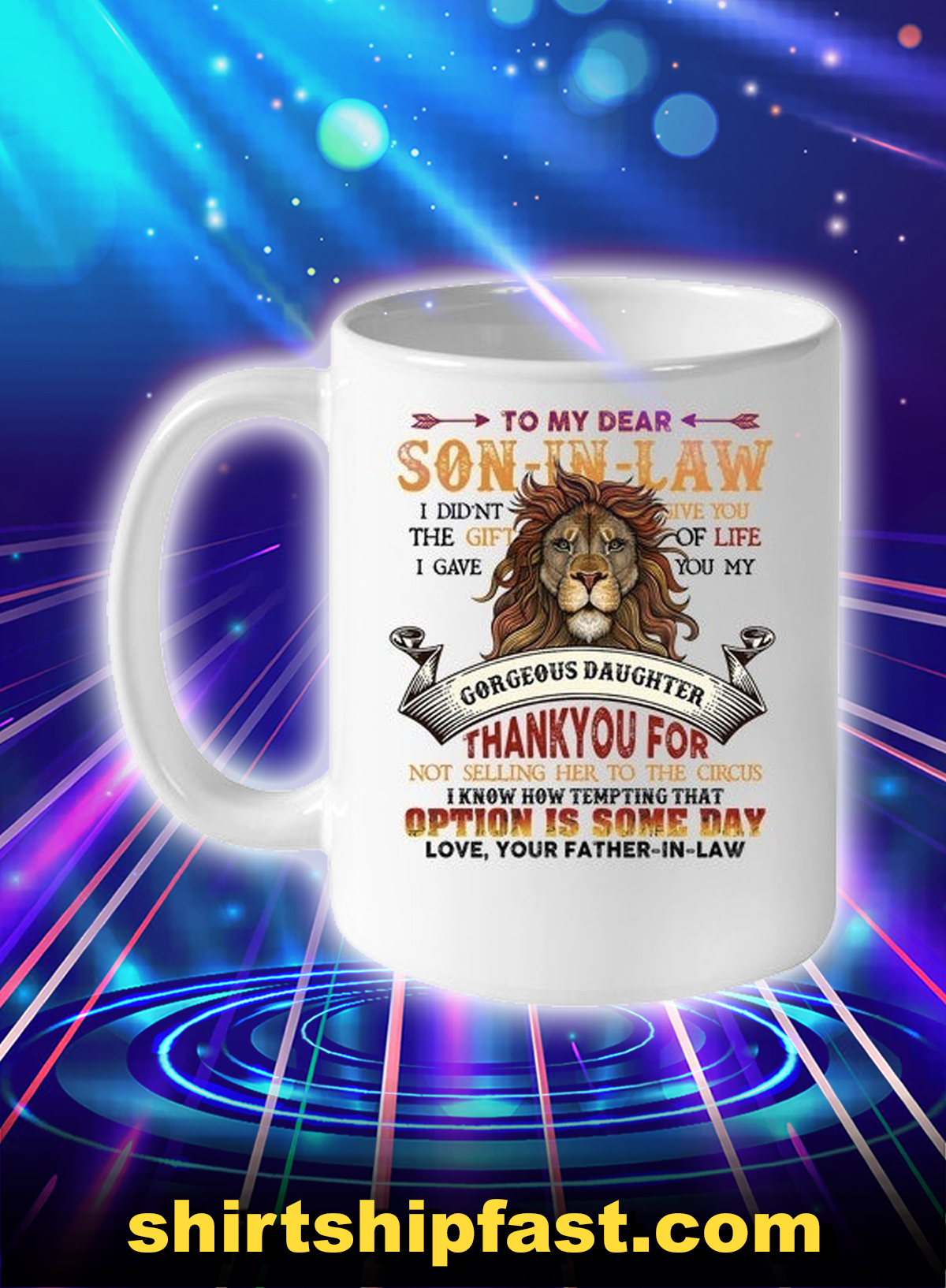 Lion son-in-law option is some day mug - Picture 1