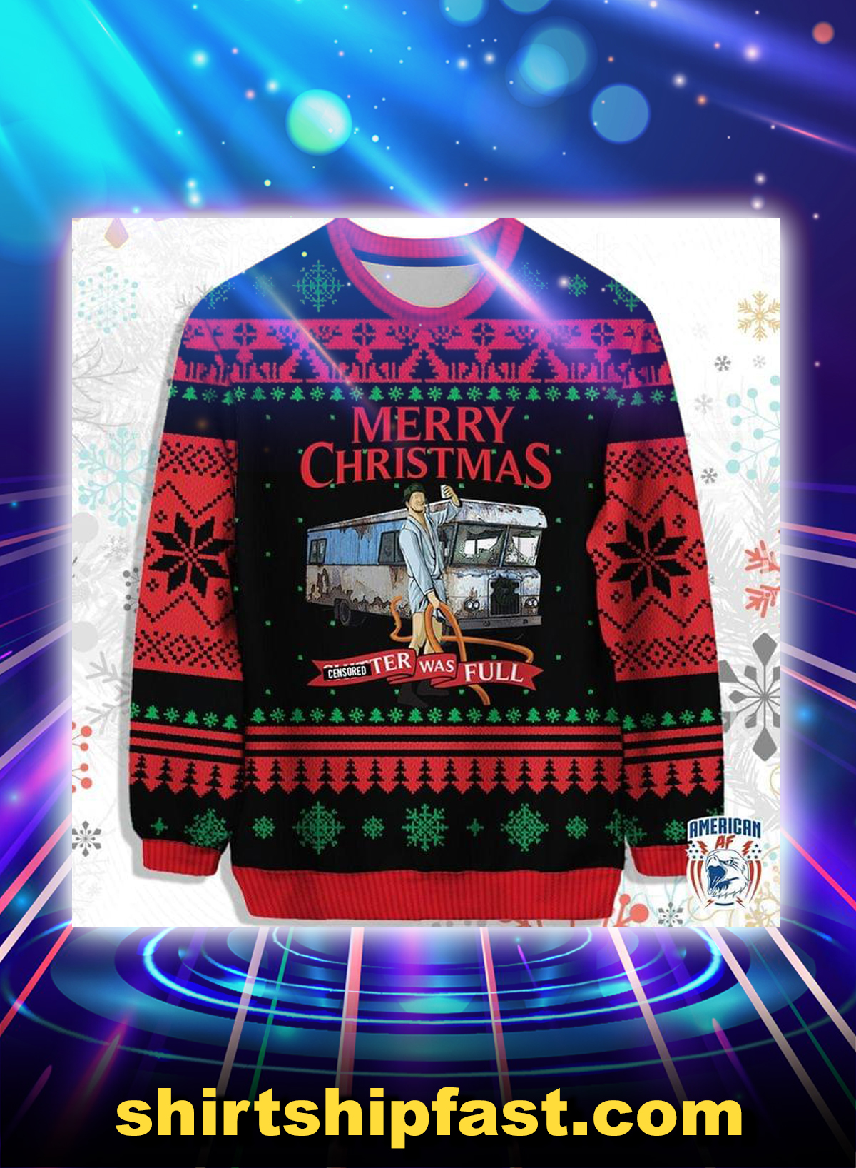 Merry christmas clutter was full ugly christmas sweater - Picture 1