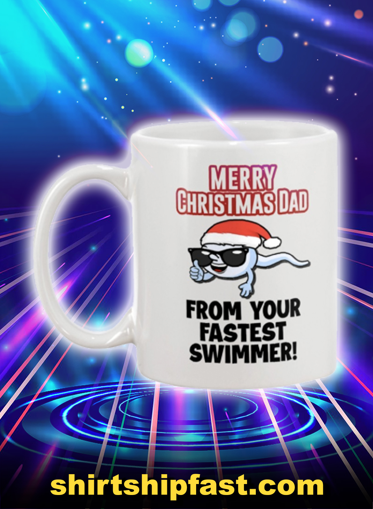 Merry christmas dad from your fastest swimmer mug - Picture 1