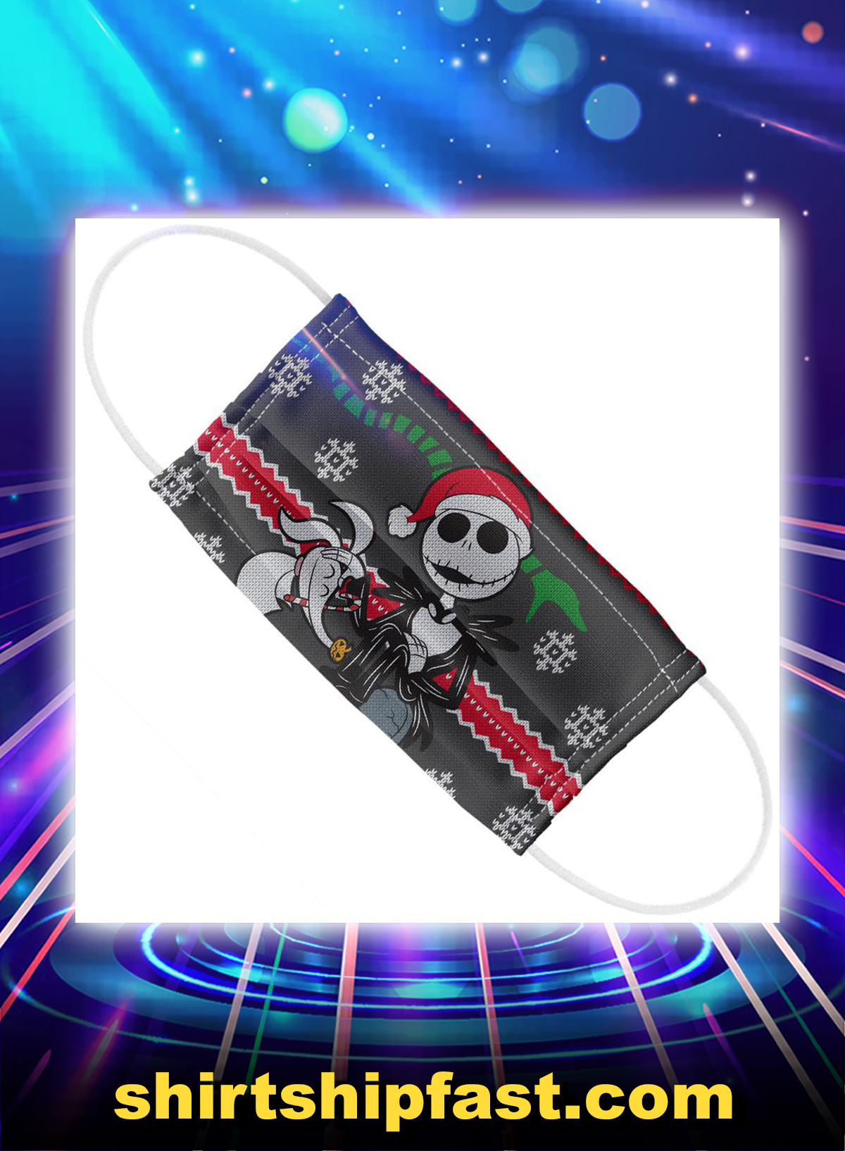 Nightmare before christmas jack and zero face mask - Picture 1