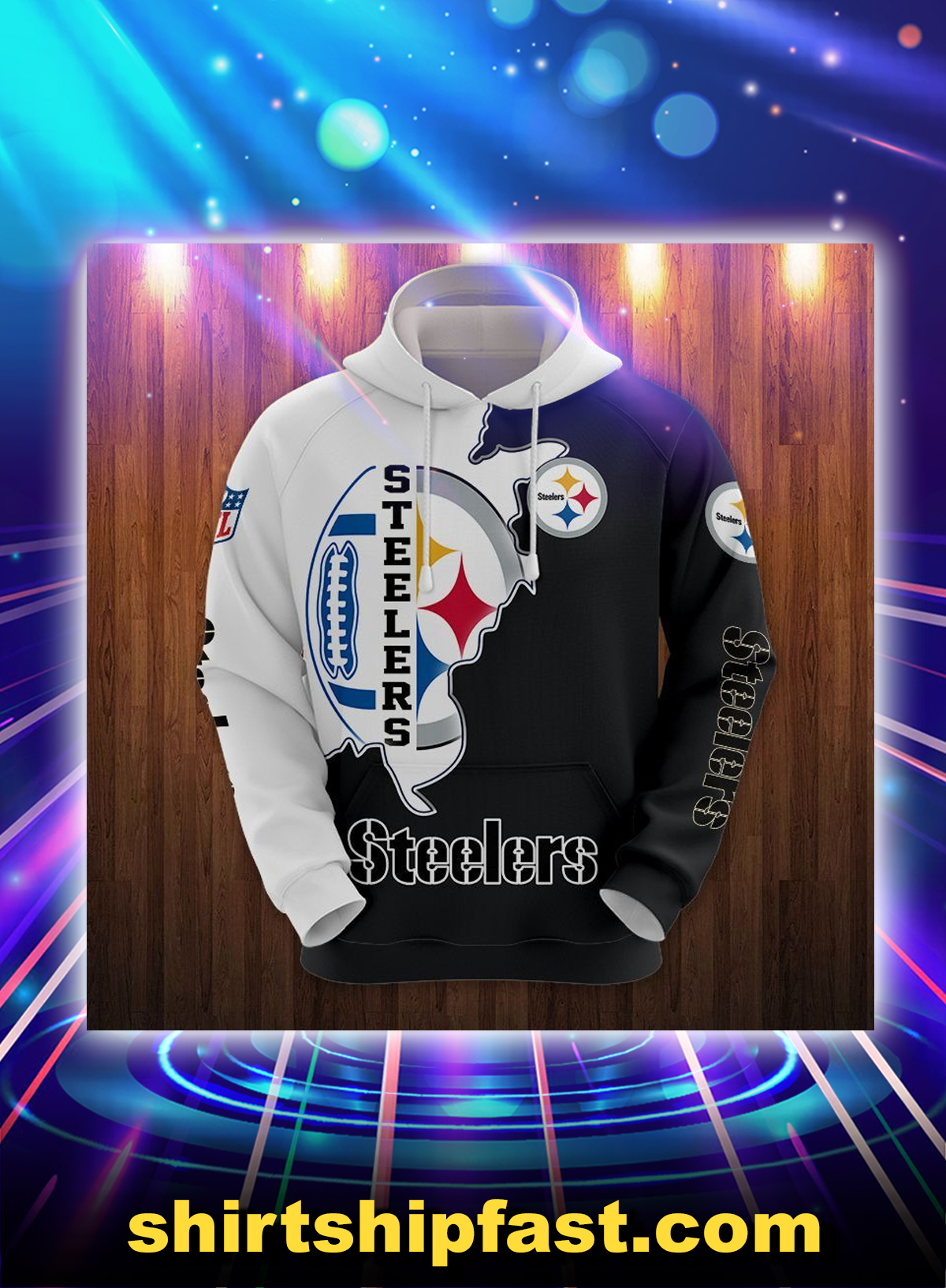 Pittsburgh Steelers 3d hoodie and t-shirt