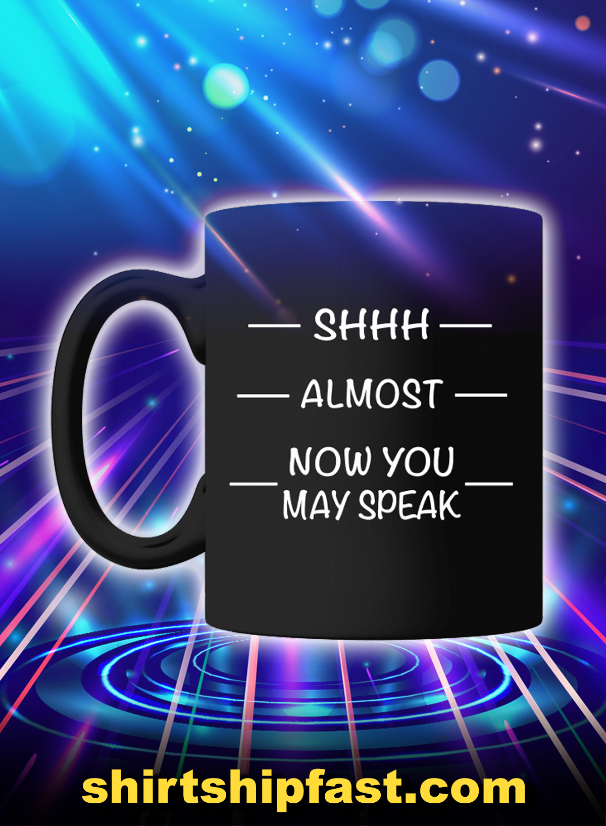Shhh almost now you may speak mug - Picture 1