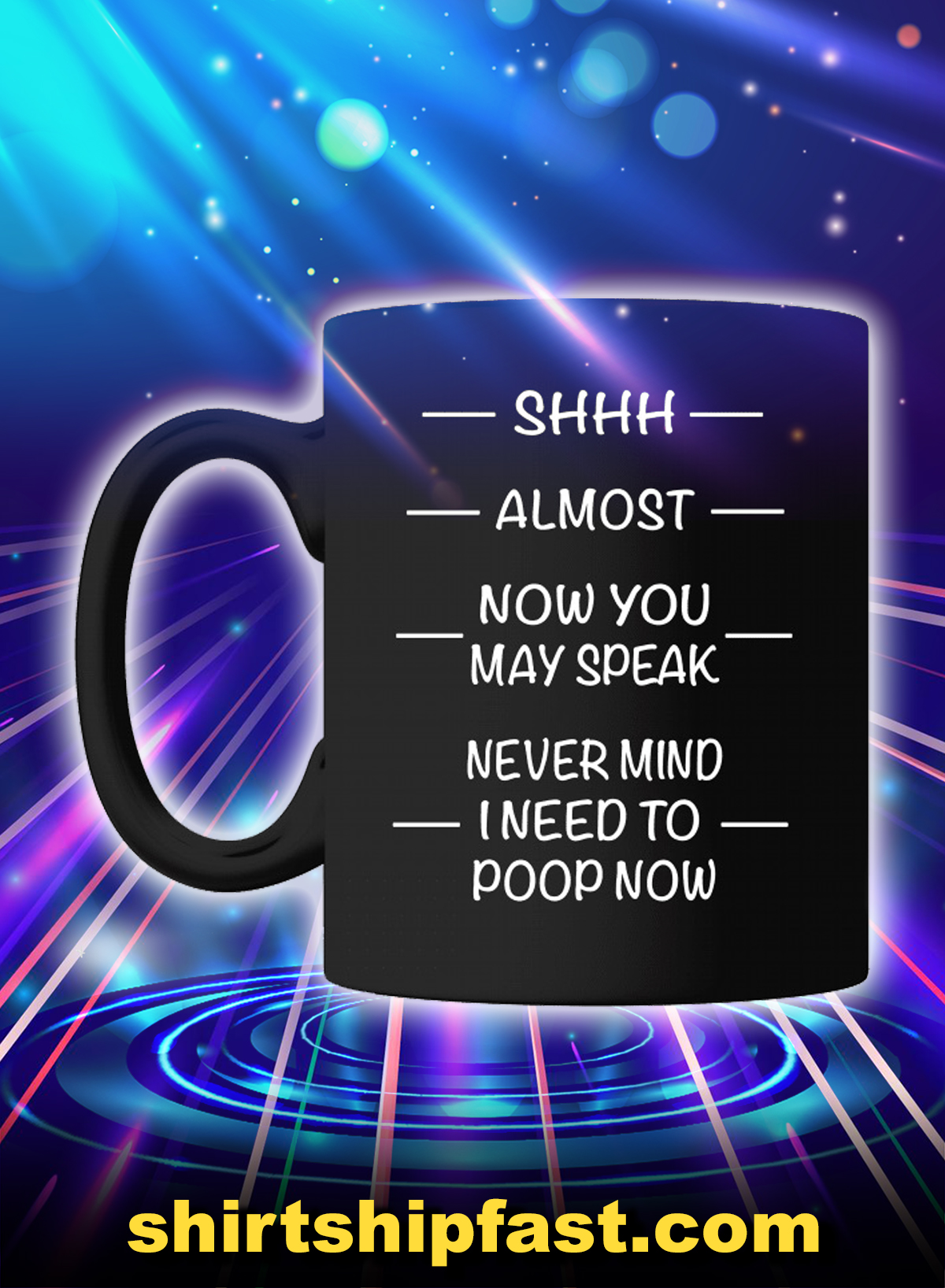 Shhh almost now you may speak never mind I need to poop now mug - Picture 1