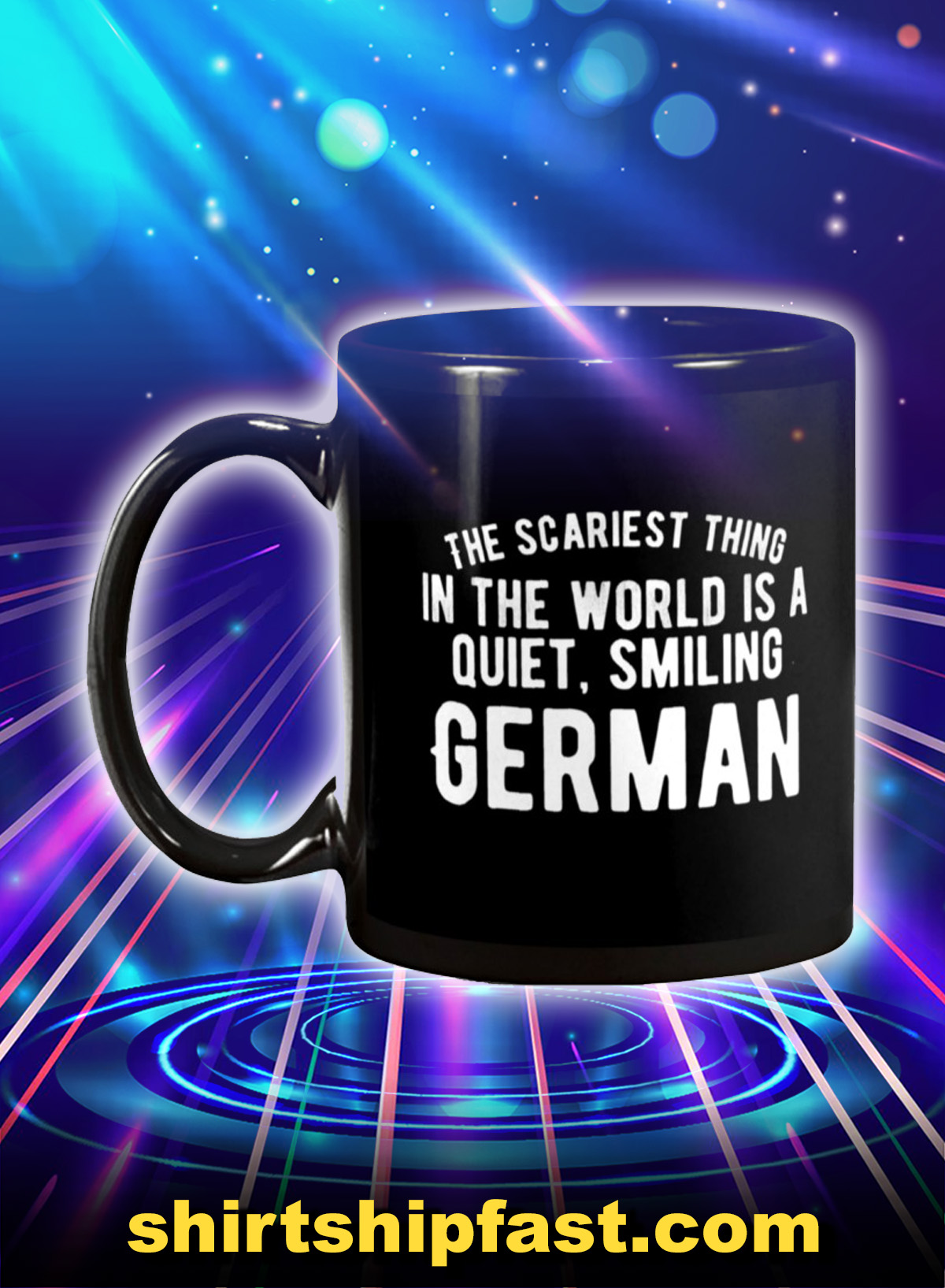 The scariest thing in the world is a quiet smiling german mug - Picture 1