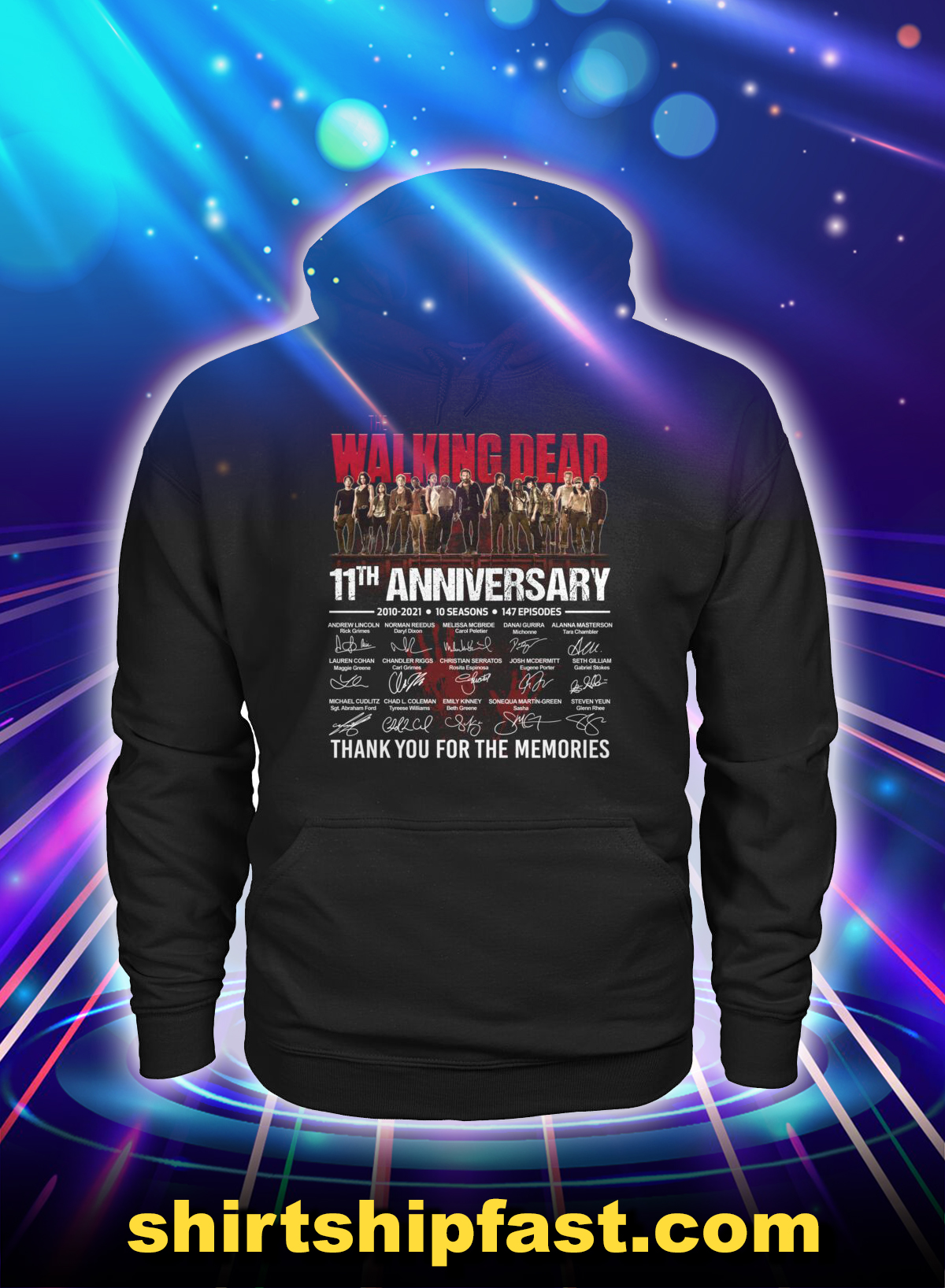The walking dead 11th anniversary thank you for the memories hoodie