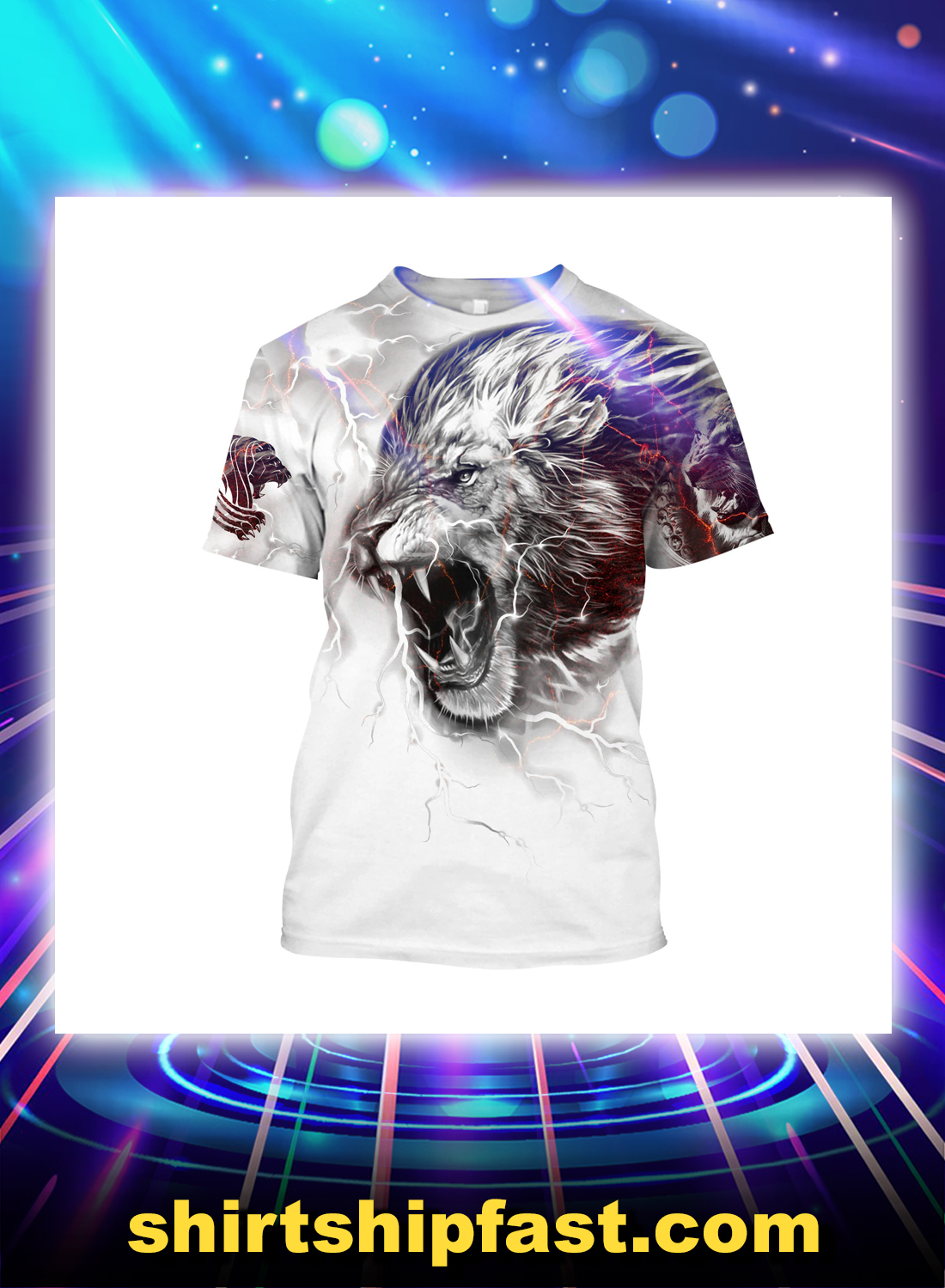 Thunder Lion all over printed t-shirt