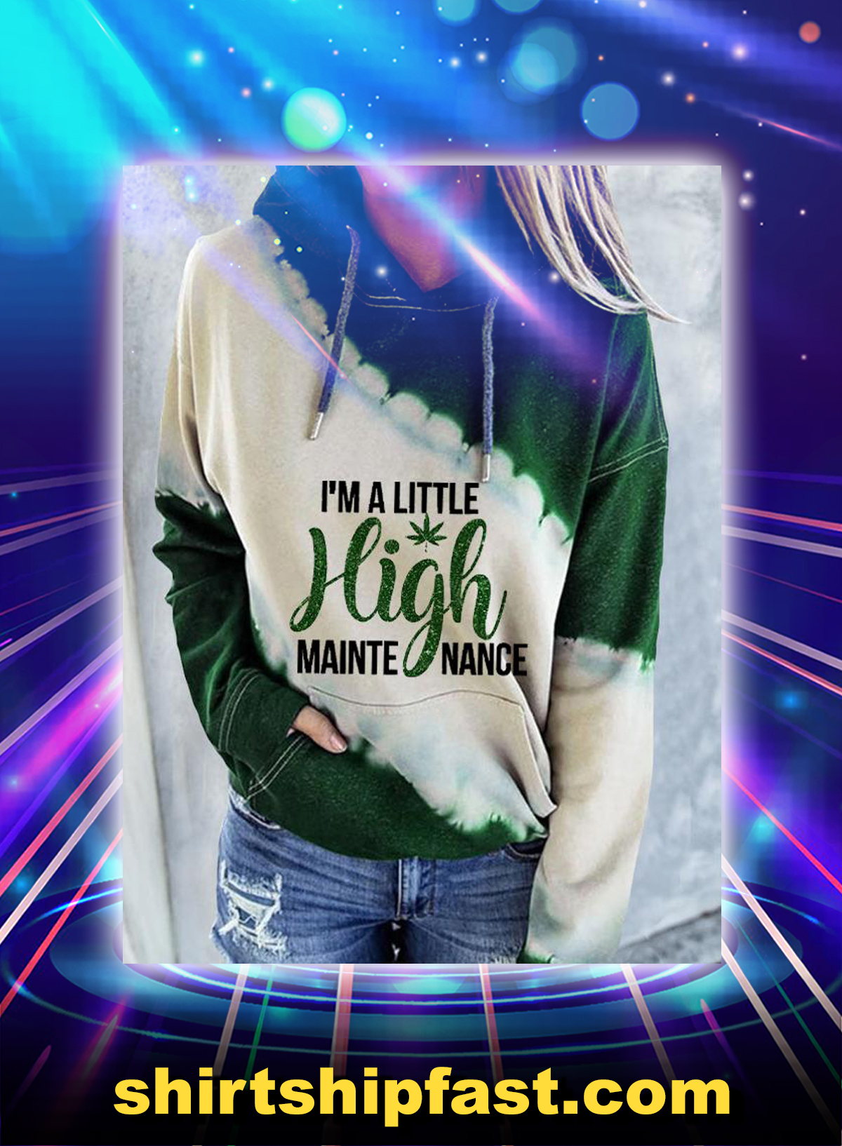 Weed Cannabis I'm a little high maintenance 3d hoodie - Picture 1