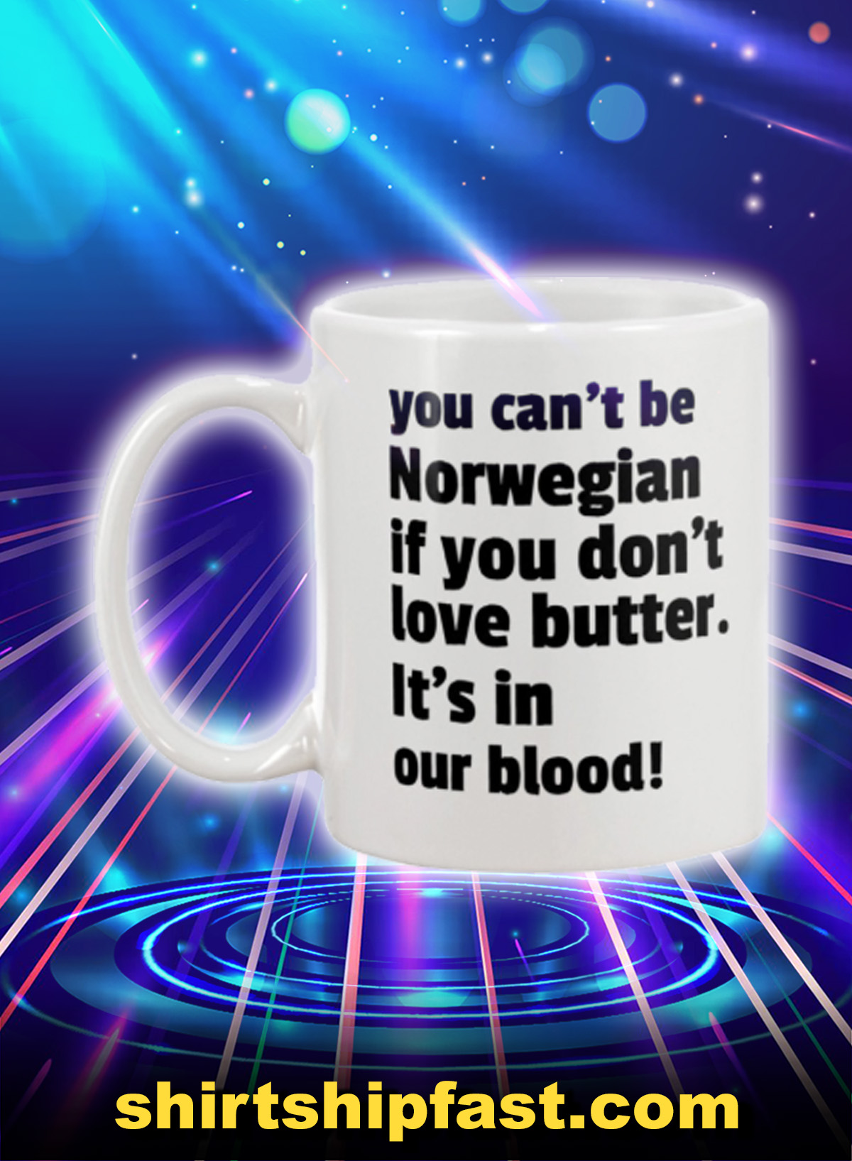 You can't be norwegian if you don't love butter mug - Picture 1