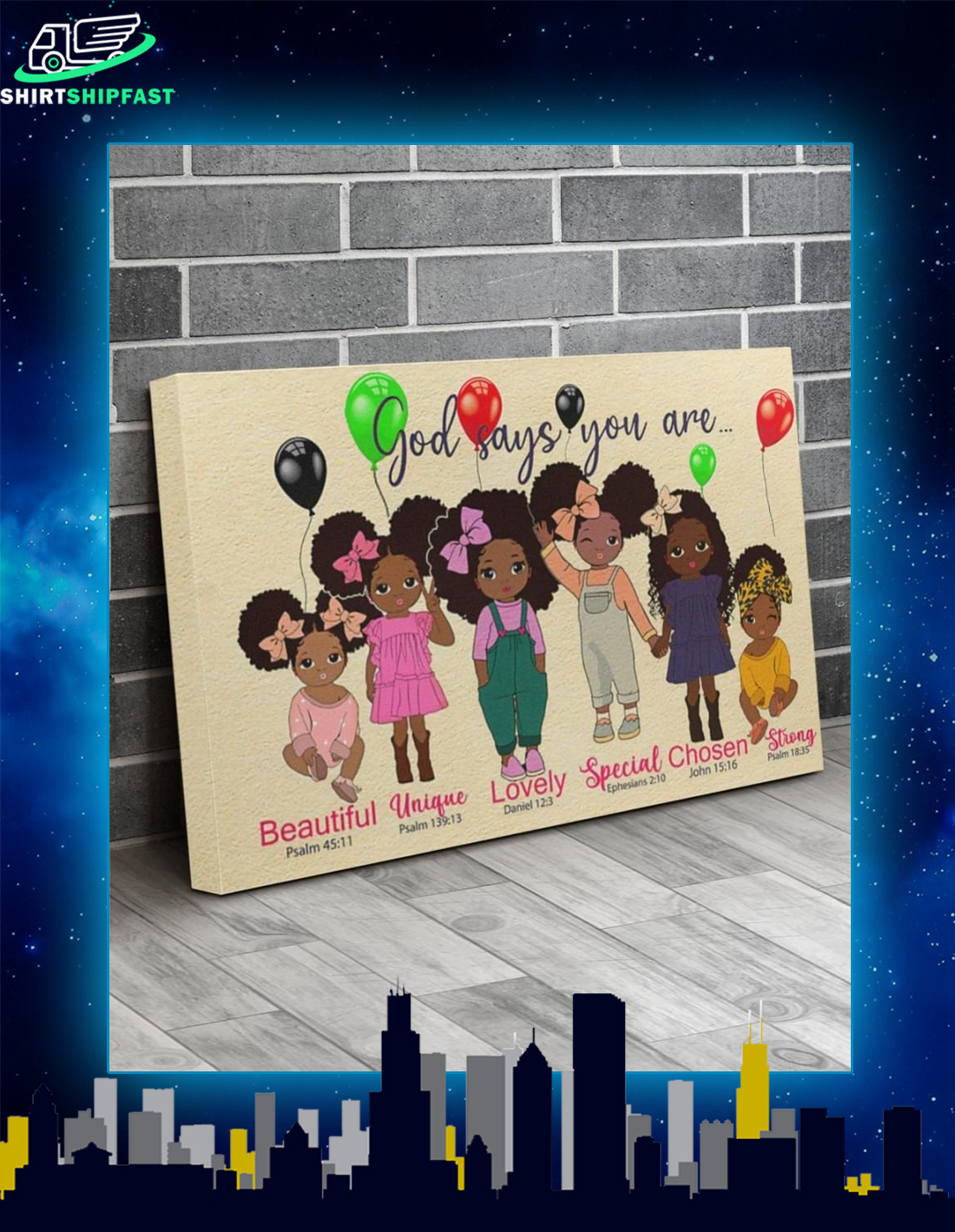 Black girl god says you are canvas prints - Picture 1