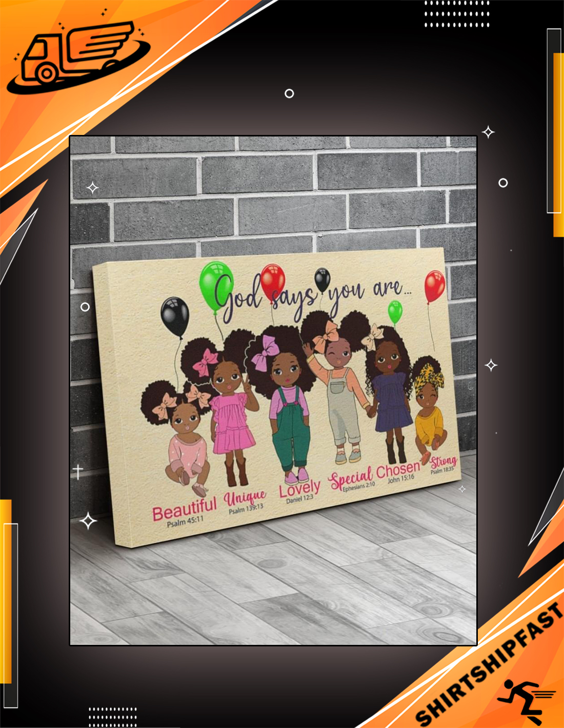 Black girl god says you are canvas prints - Picture 2