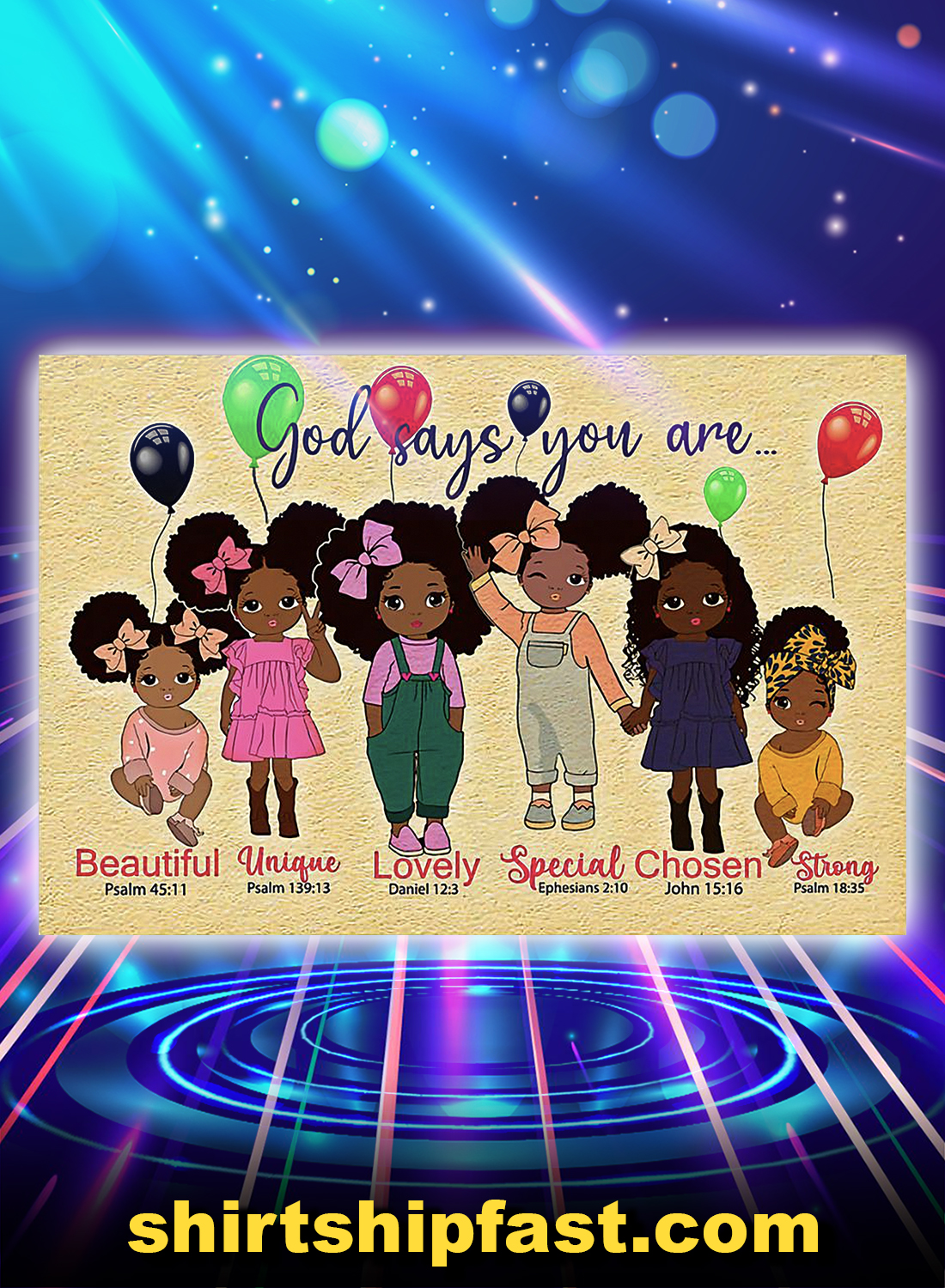 Black girl god says you are canvas prints - Picture 3