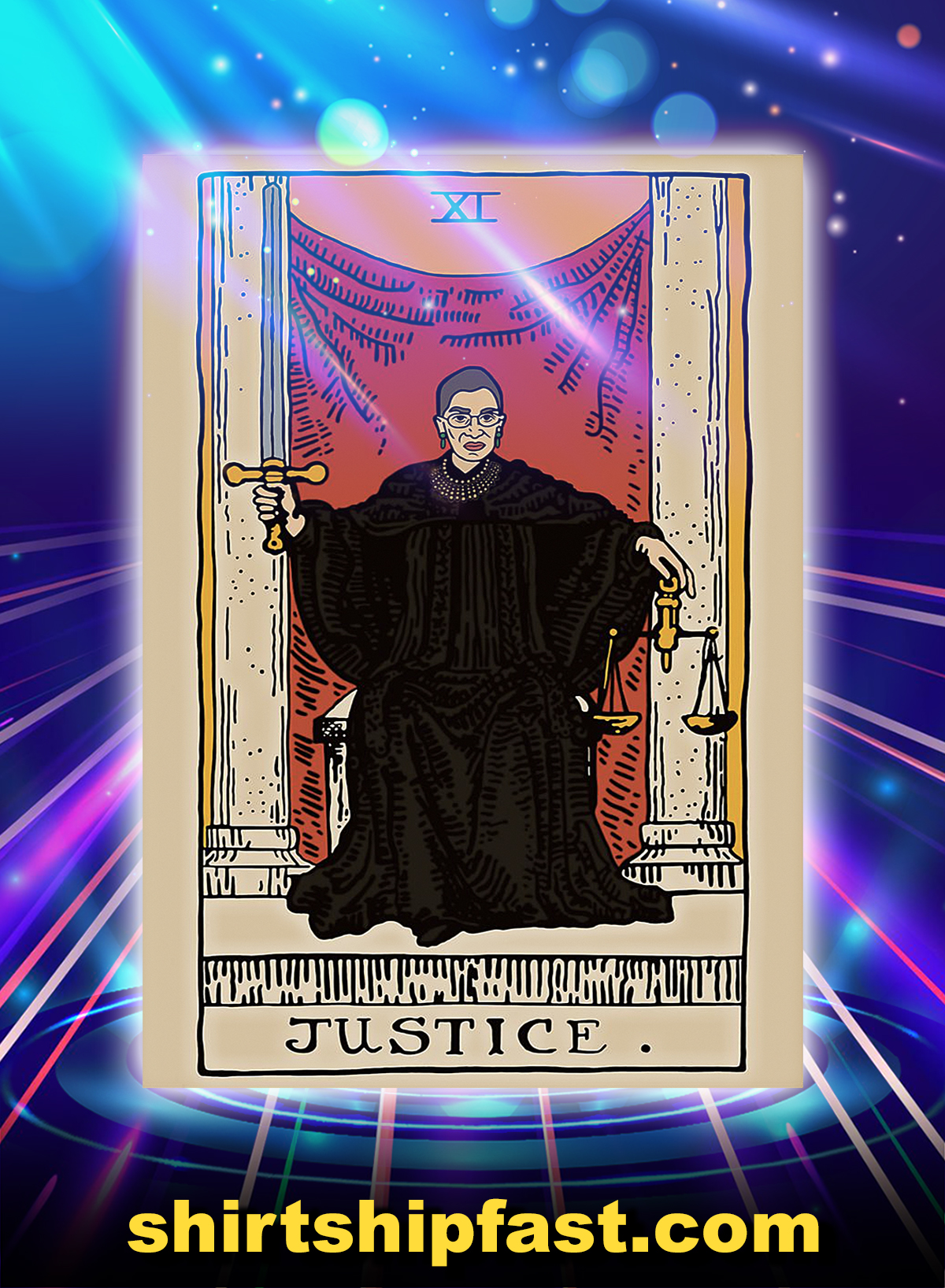Card carot RBG justice poster - A4