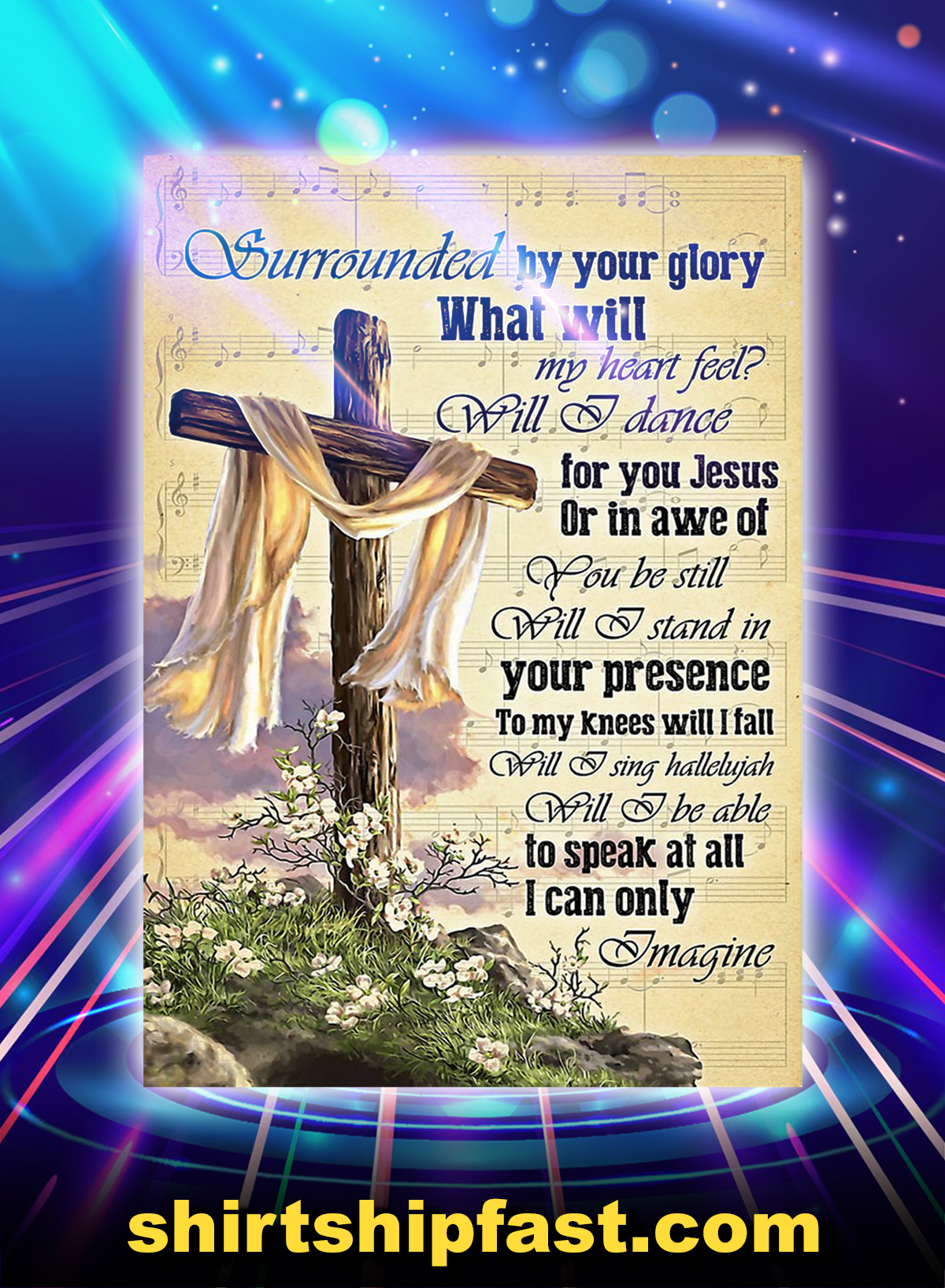 Cardina cross I can only imagine poster - A1