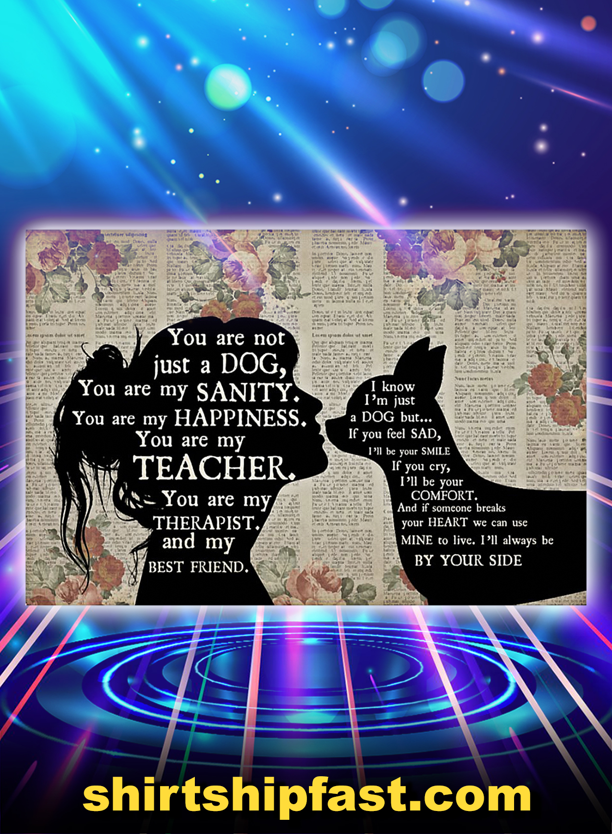 Chihuahua girl therapist best friend poster - A2