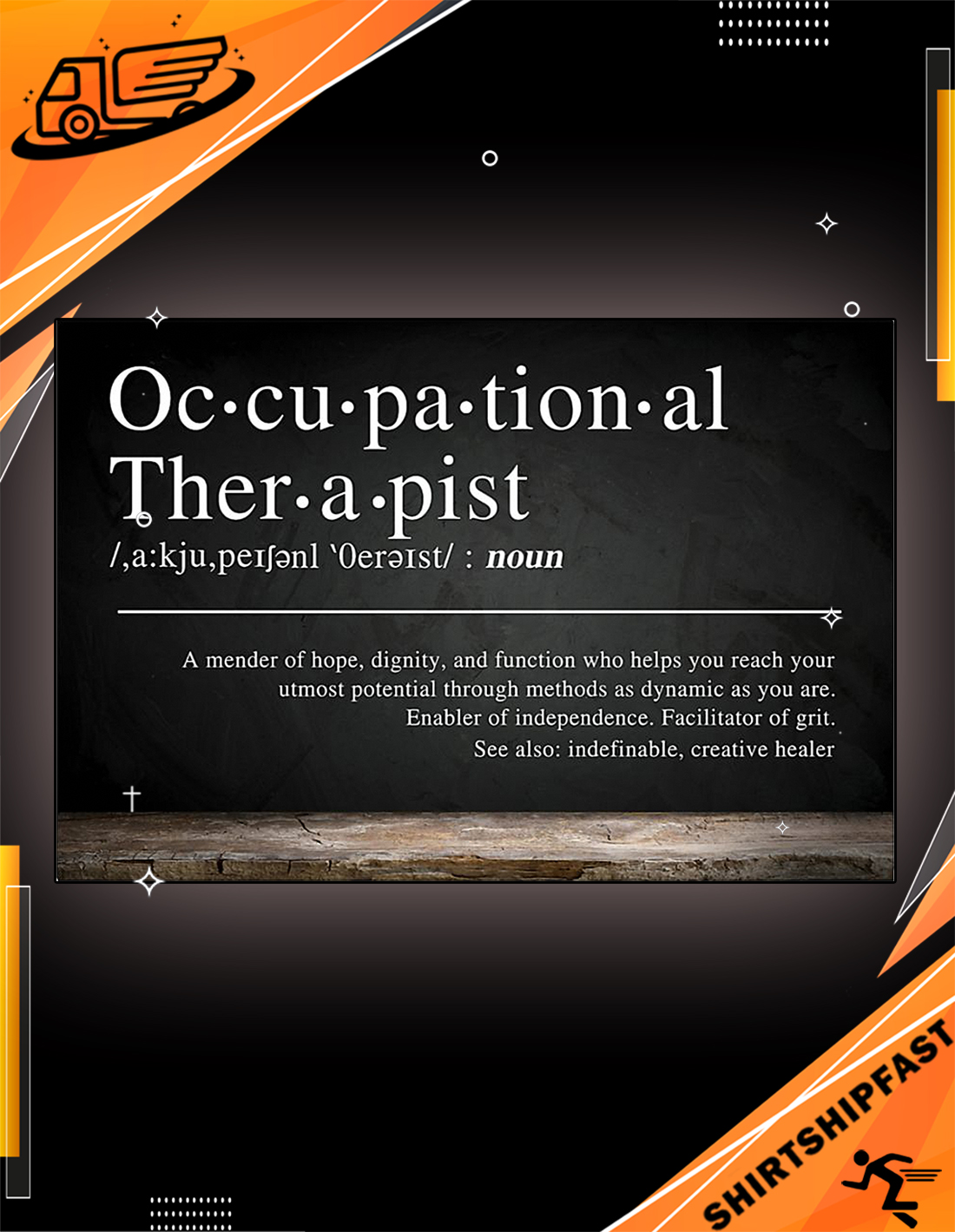 Occupational therapist definition a mender of hope poster - Picture 1
