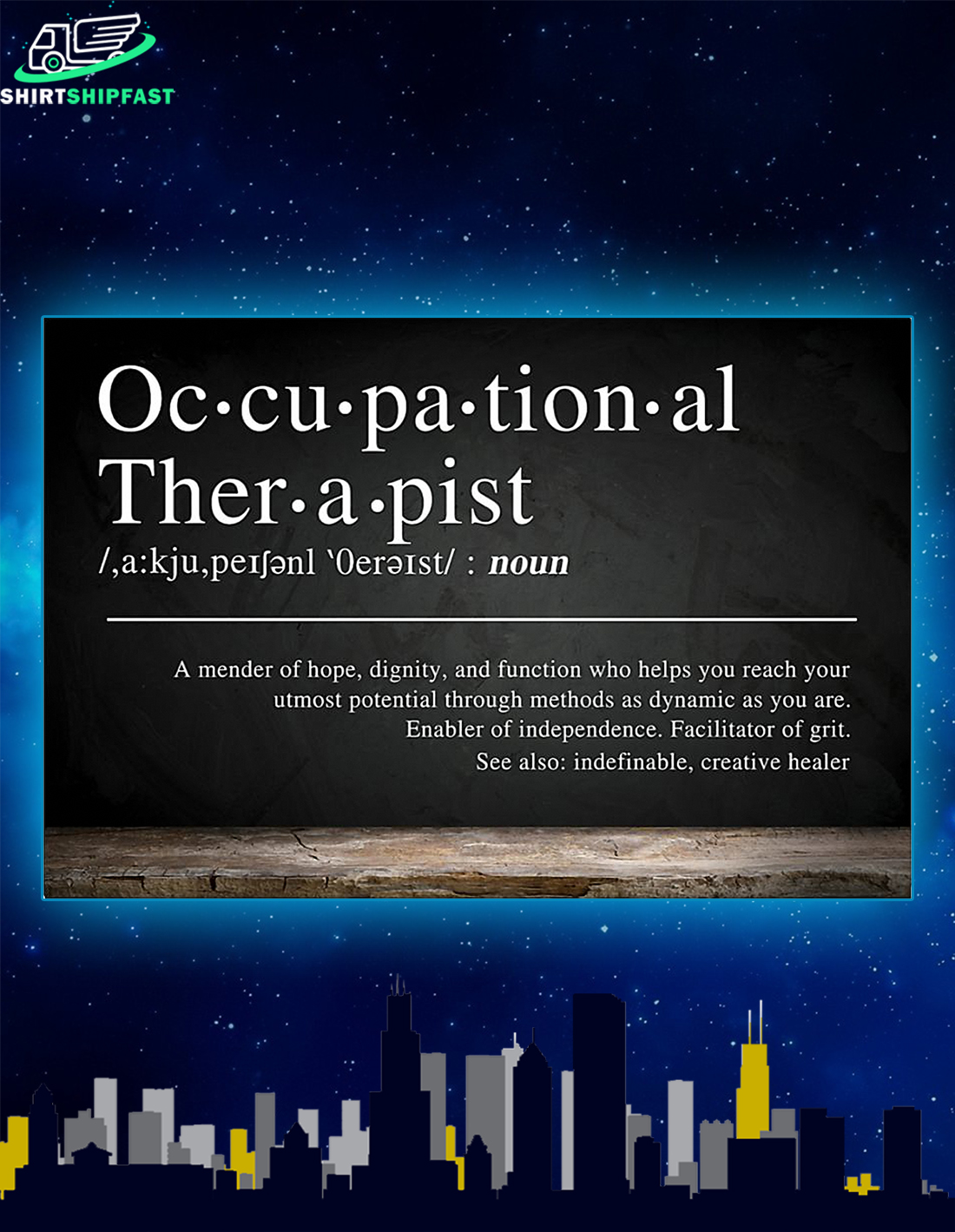 Occupational therapist definition a mender of hope poster - Picture 2