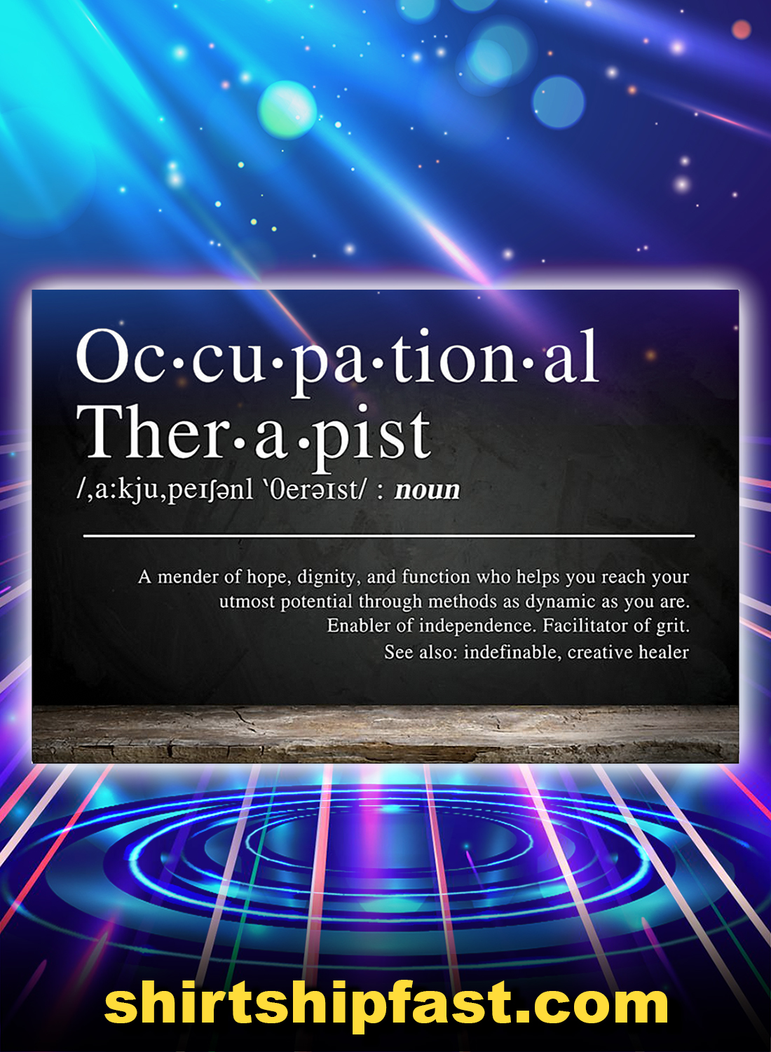 Occupational therapist definition a mender of hope poster