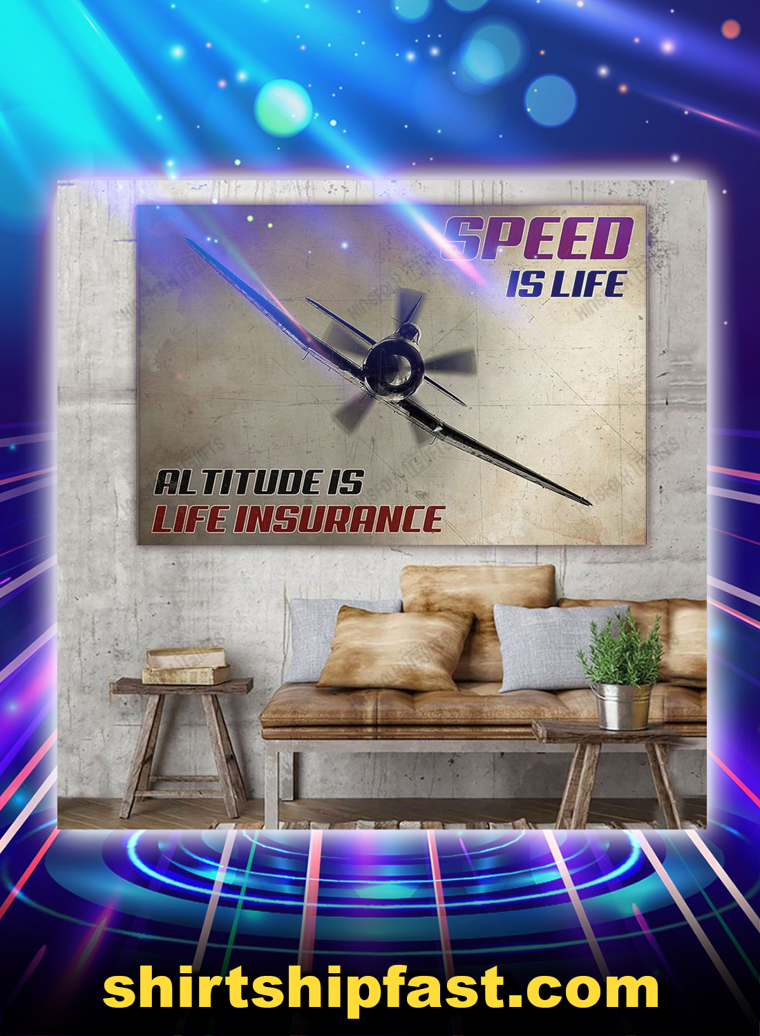 Pilot speed is life altitude is life insurance canvas prints