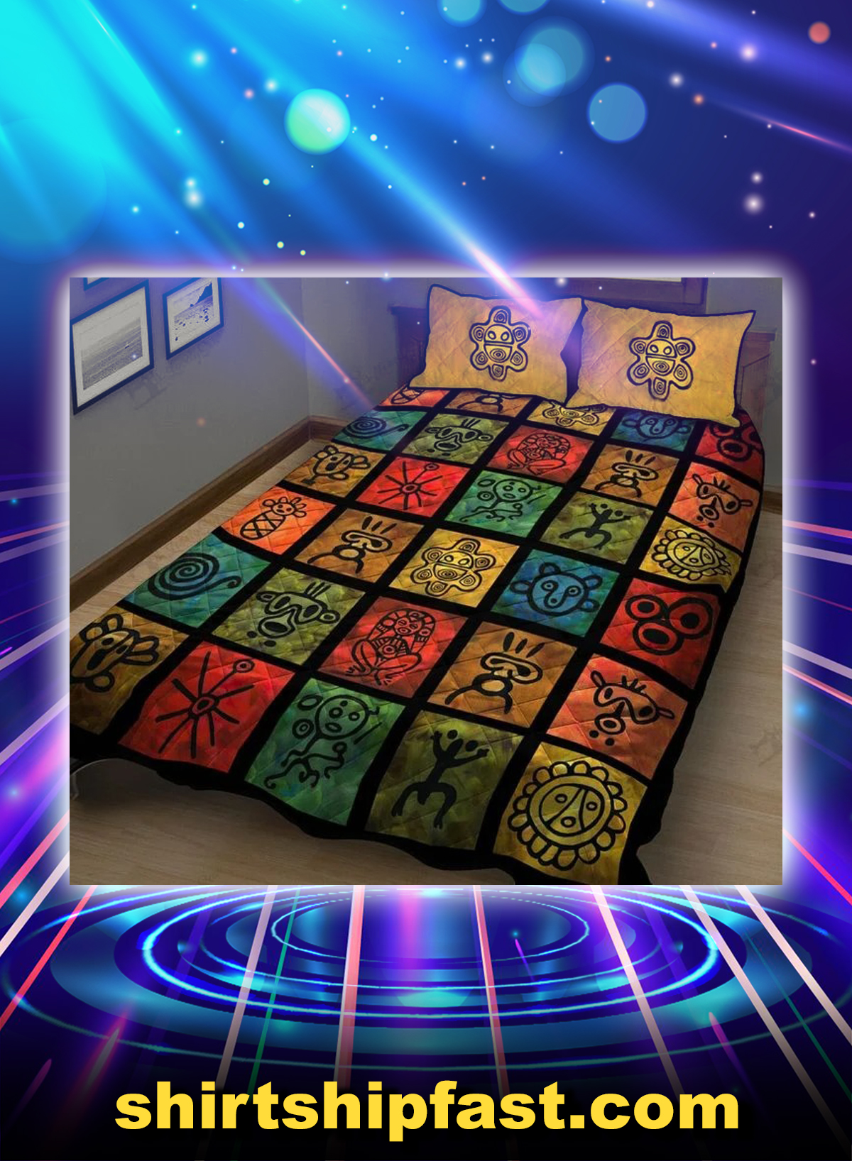 Puerto rican pride bed set - Picture 1