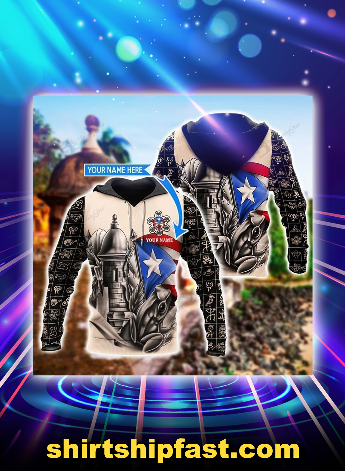 Sol taino personalized custom name 3d hoodie