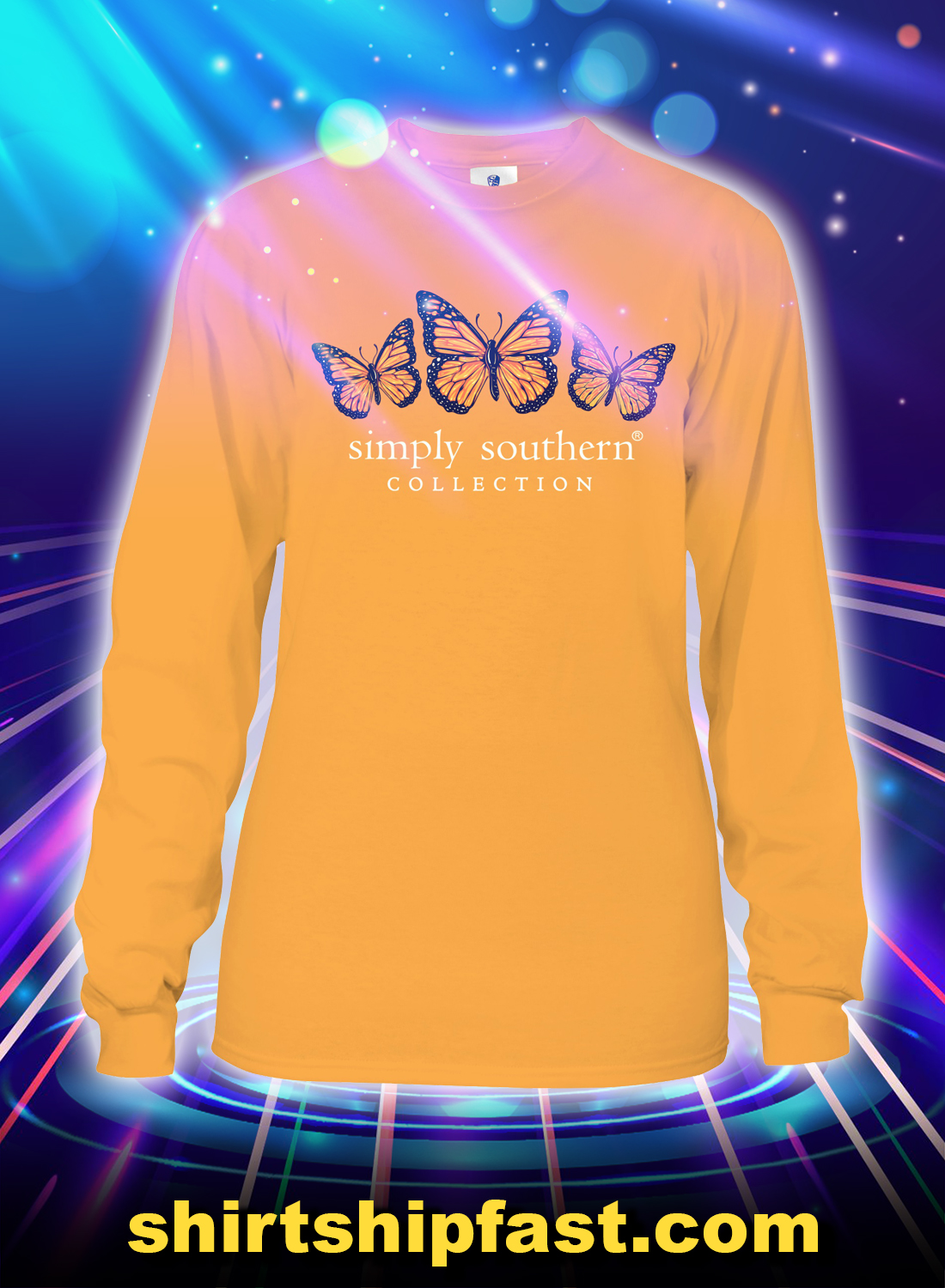 Sunflower butterfly become the change simply southern collection sweatshirt - Front