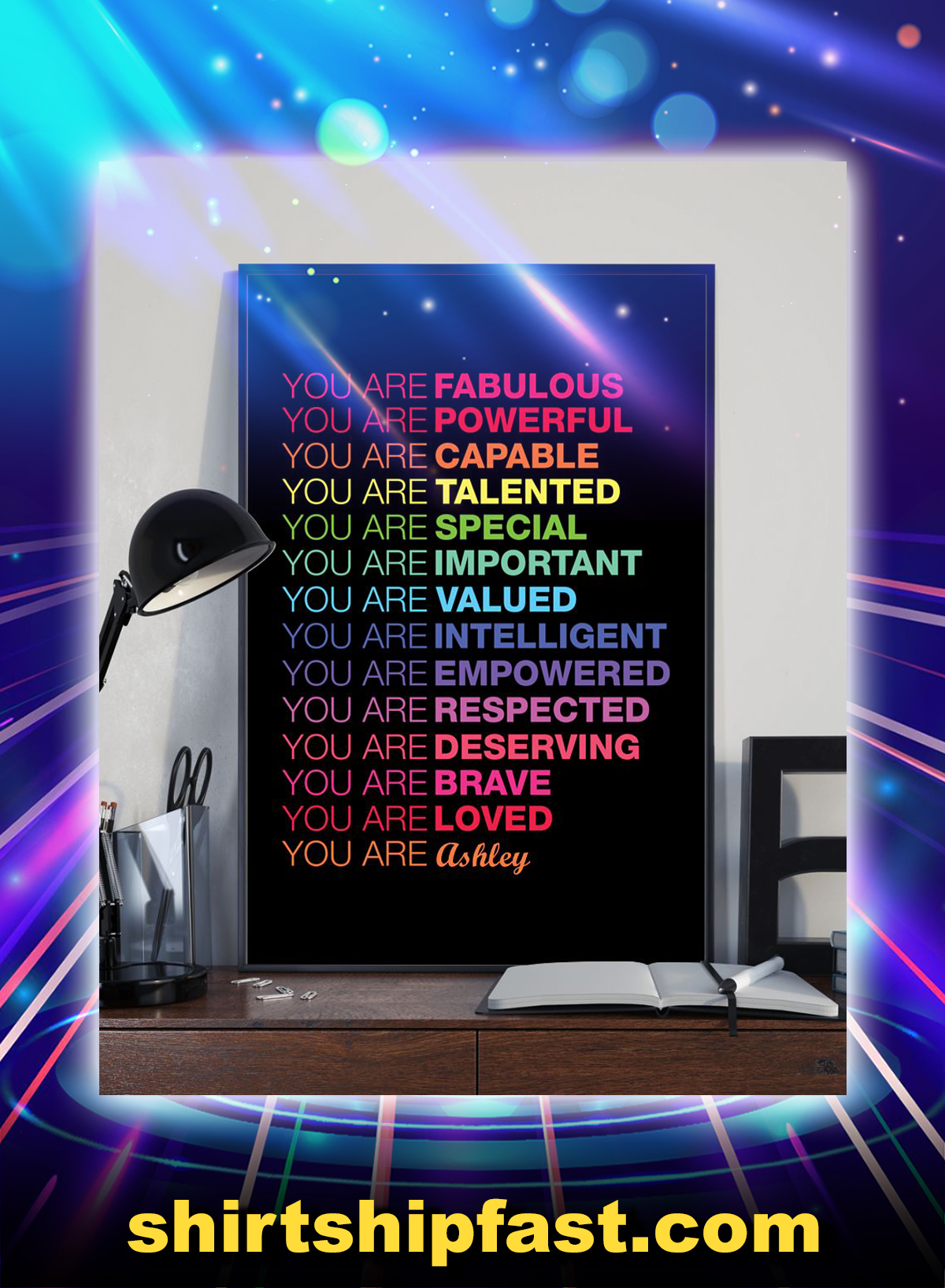 You are fabulous powerful personalized vertical poster - Picture 1