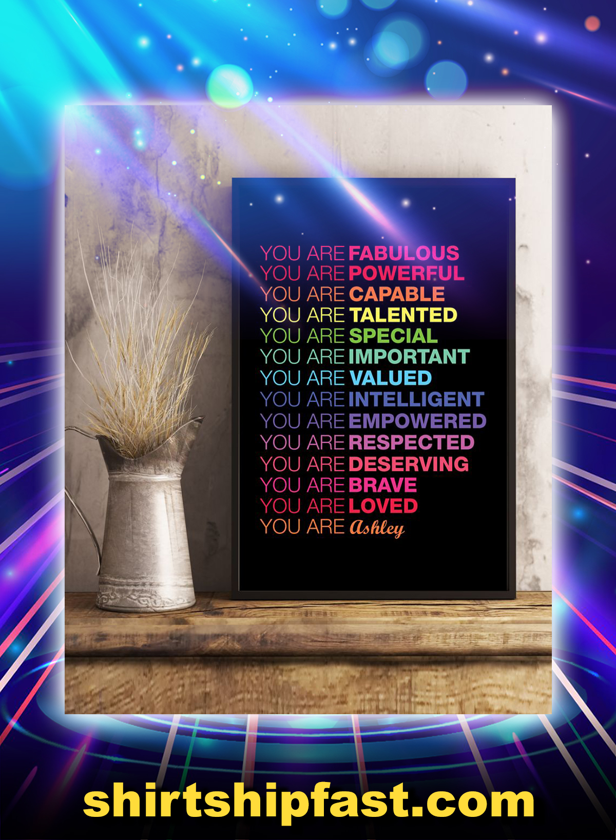 You are fabulous powerful personalized vertical poster - Picture 2