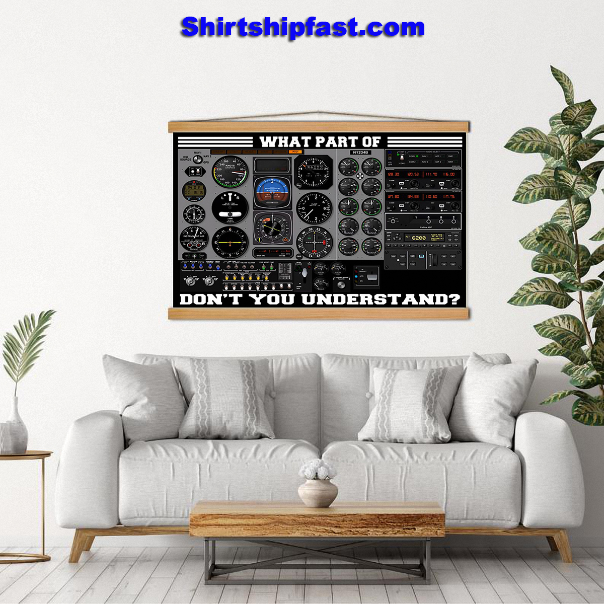 Airplane control panel what part of don't you understand poster - Picture 1