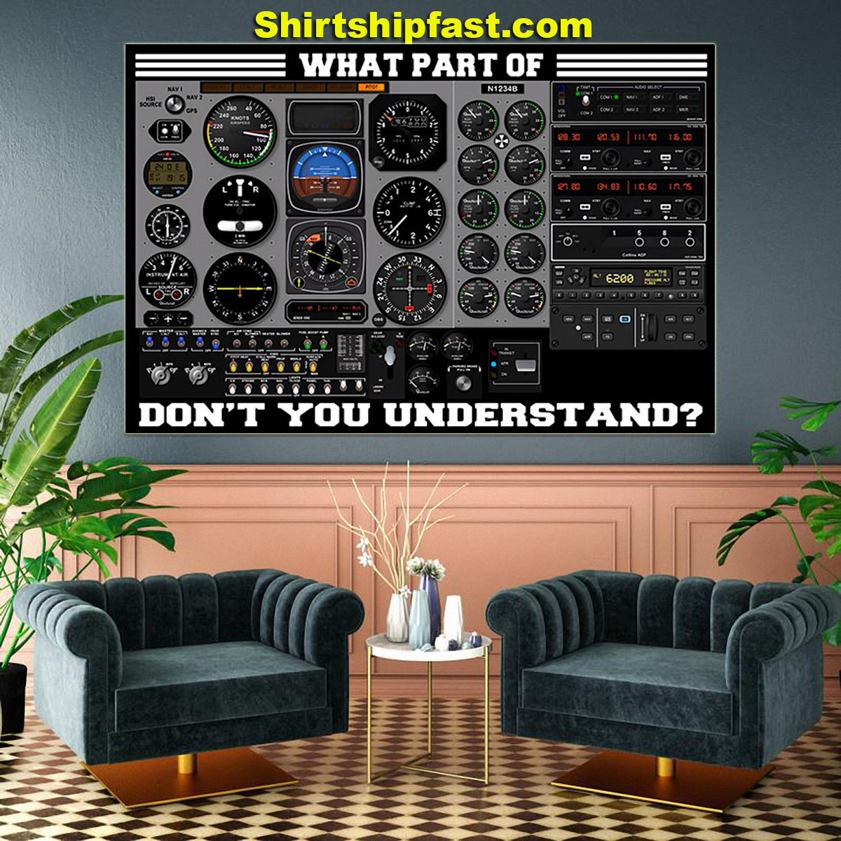 Airplane control panel what part of don't you understand poster