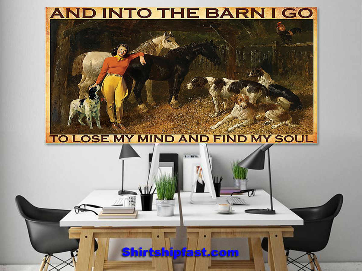 And Into The Barn I Go Cowgirl poster - Picture 2