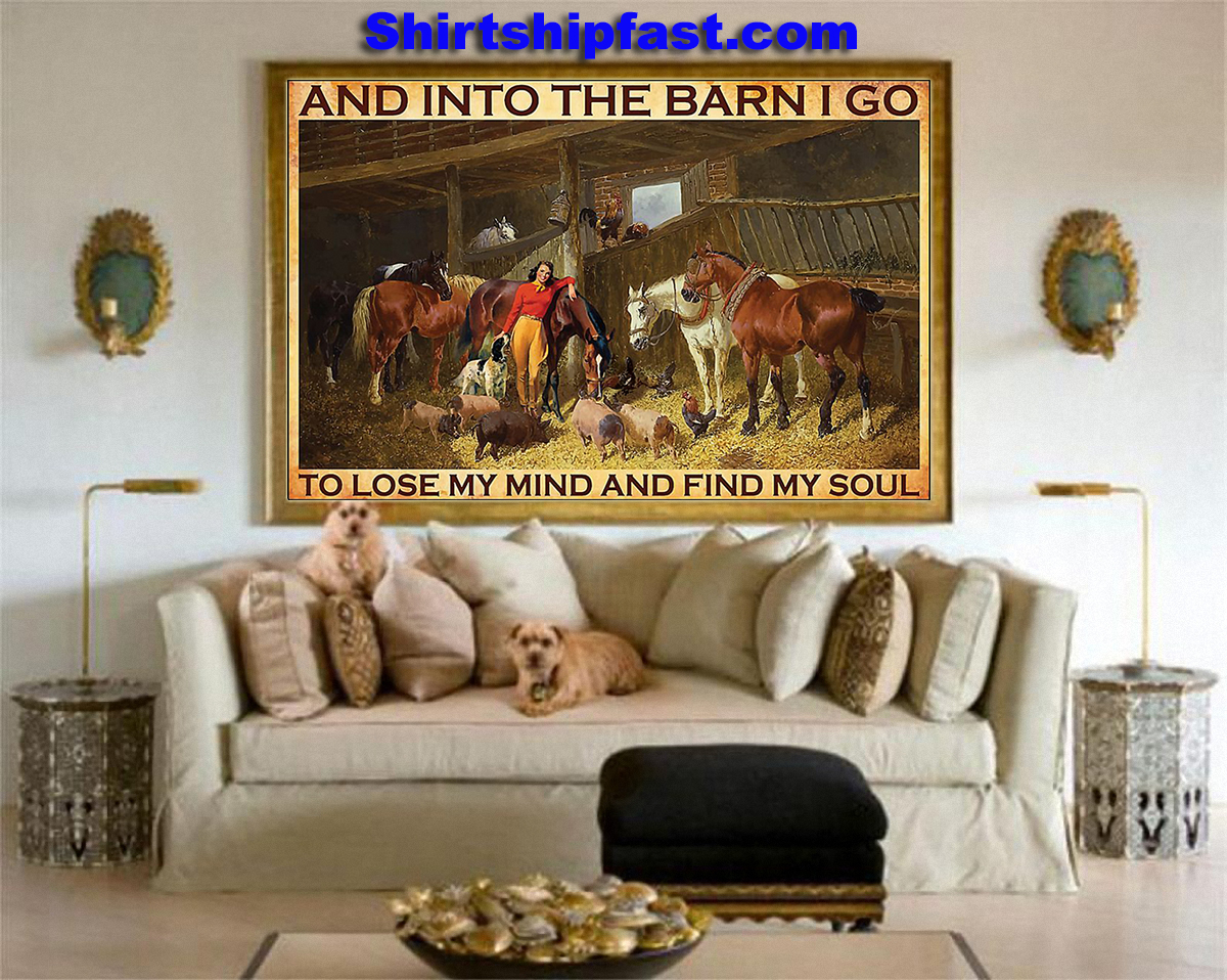 And into the barn Cowgirl poster