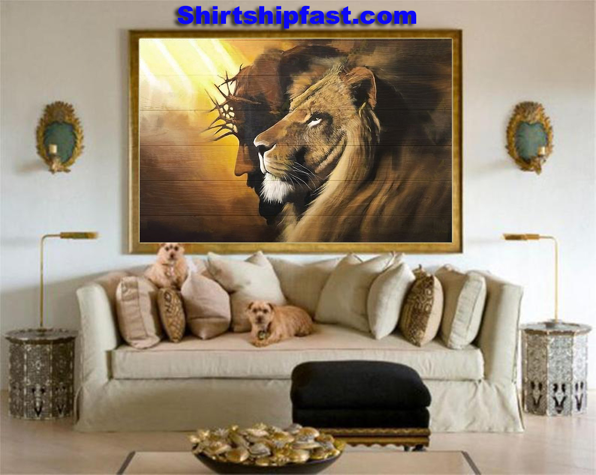 Awesome lion and god canvas - Picture 2