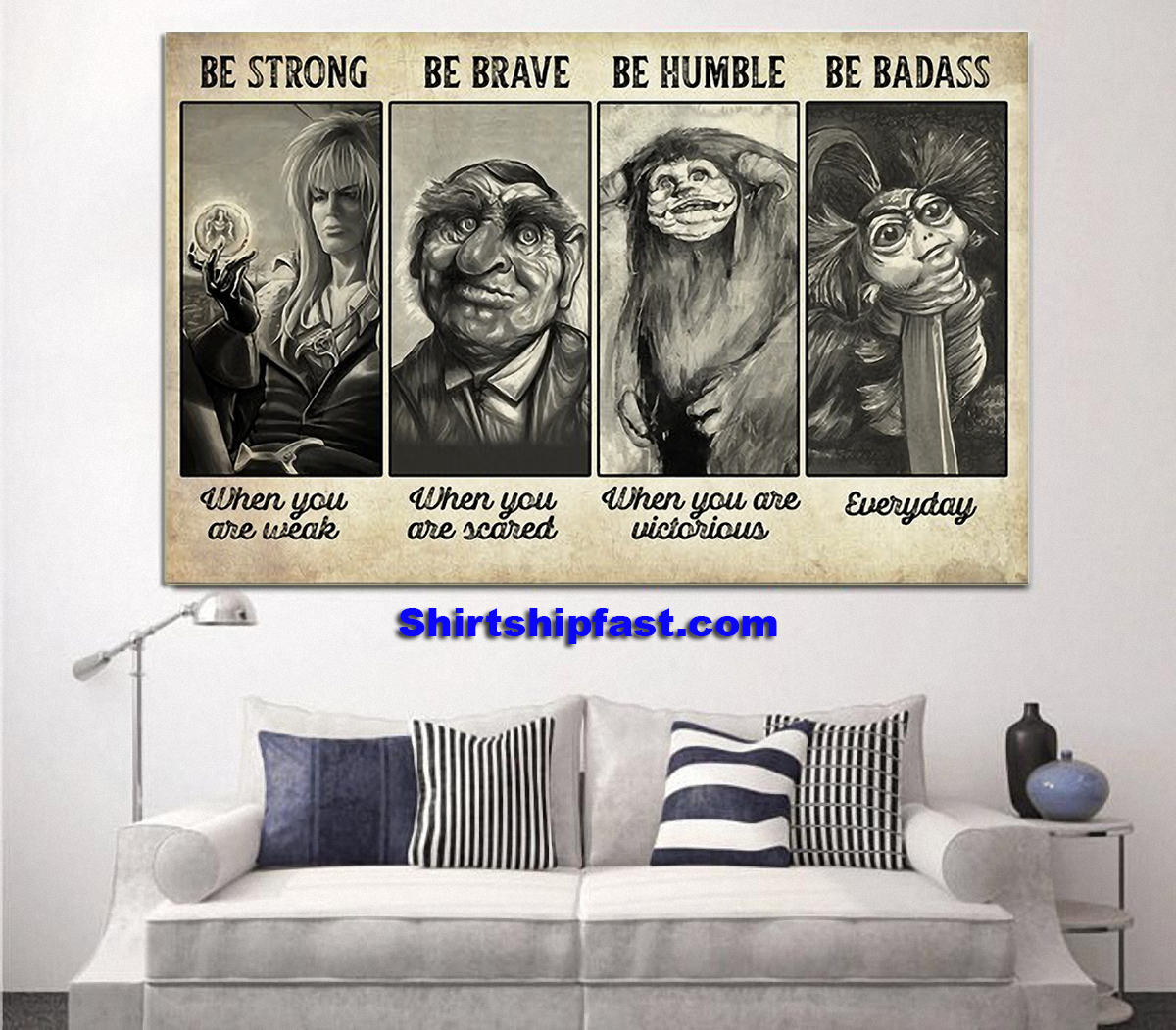 Be strong be brave be humble be badass supernatural creature poster - Picture 1