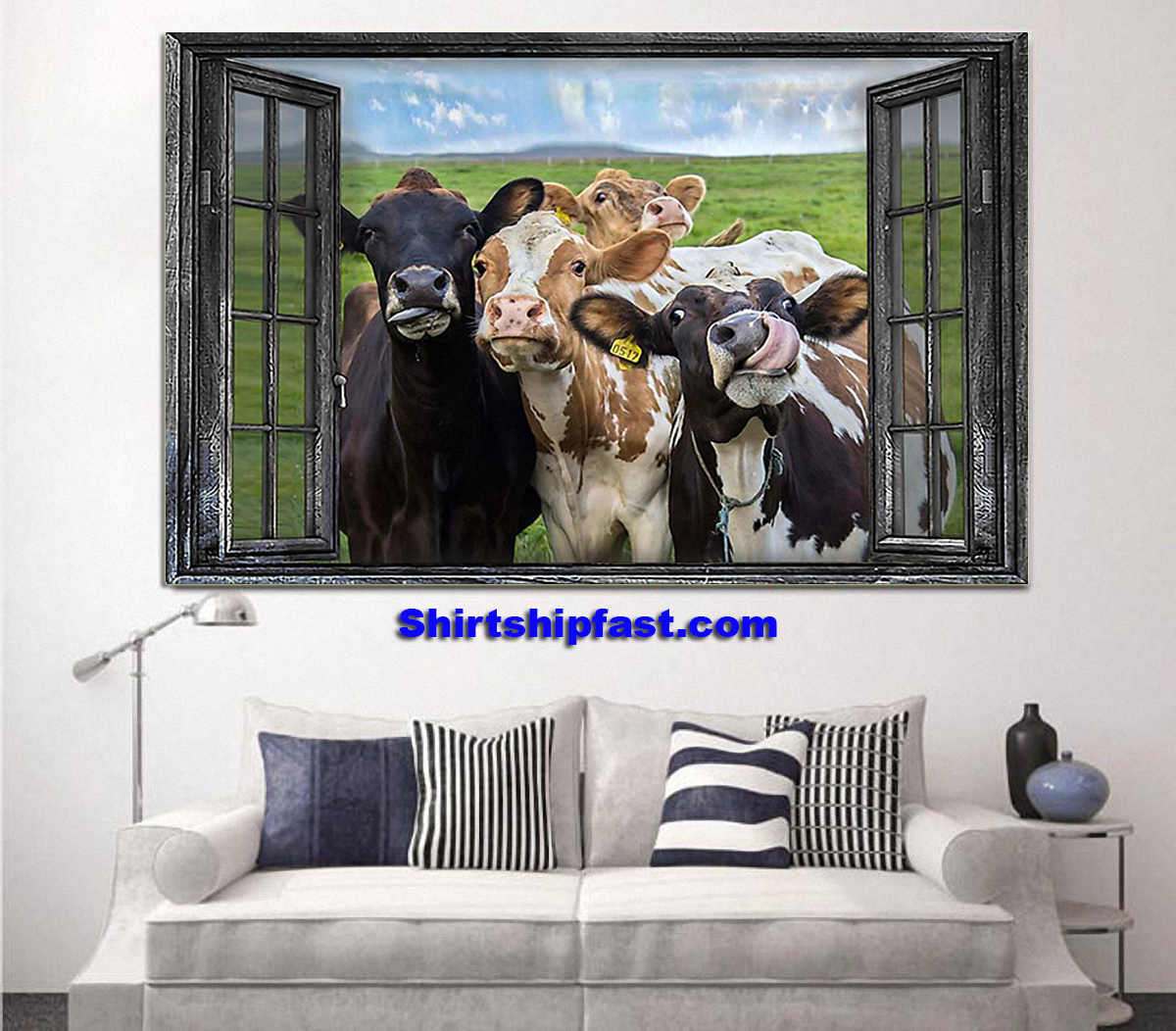 Cow window poster - Picture 1
