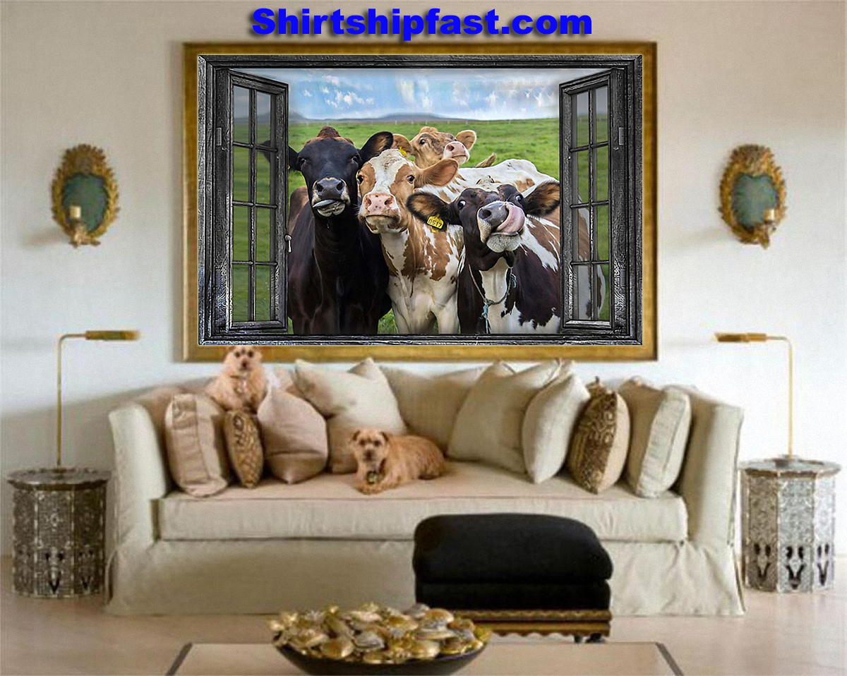 Cow window poster - Picture 3