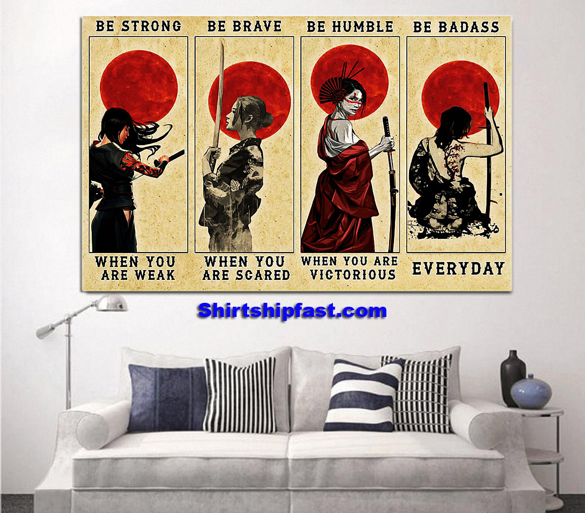 Customize Samurai women be strong be brave be humble be badass poster - Picture 3