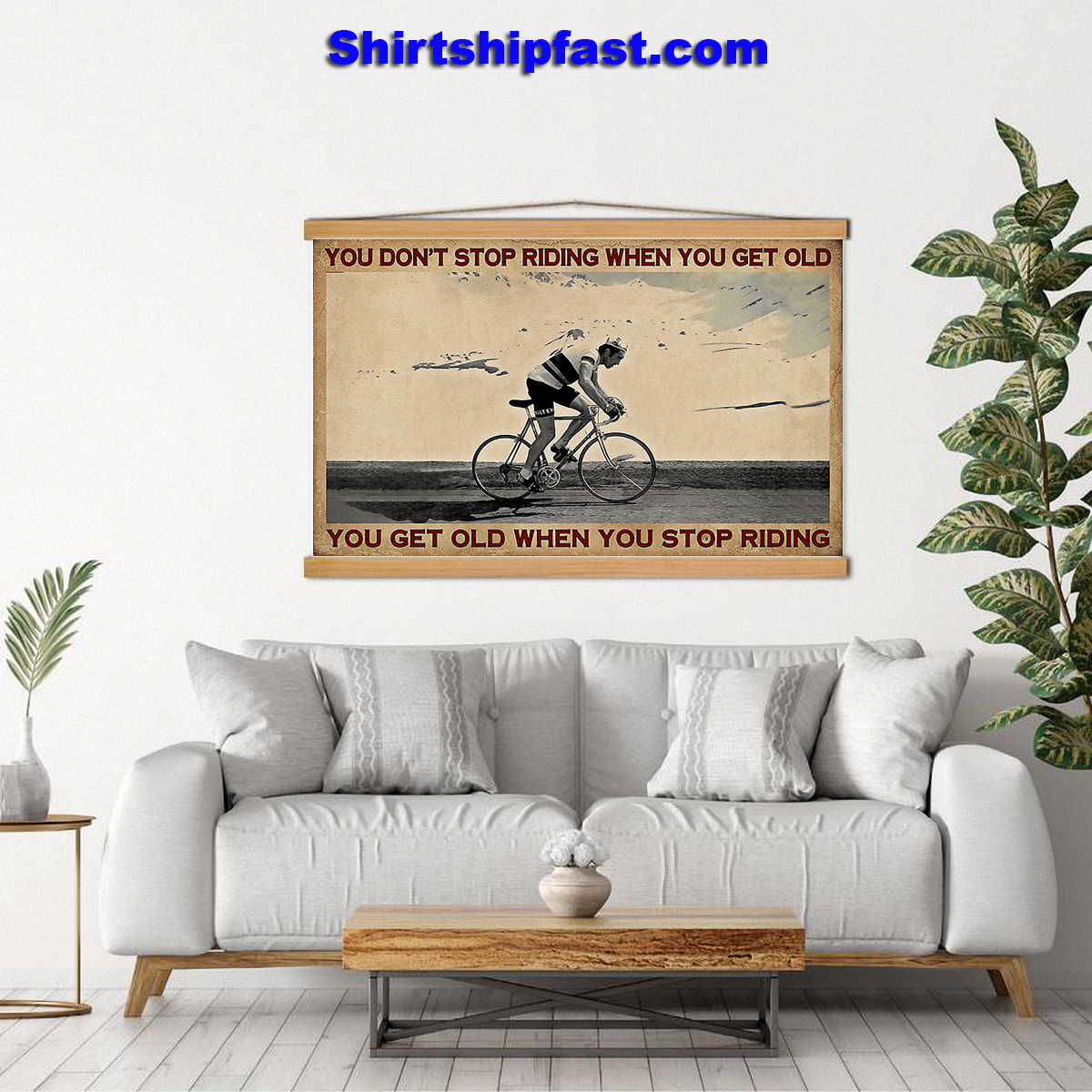 Cycling you don't stop riding when you get old canvas - Picture 1