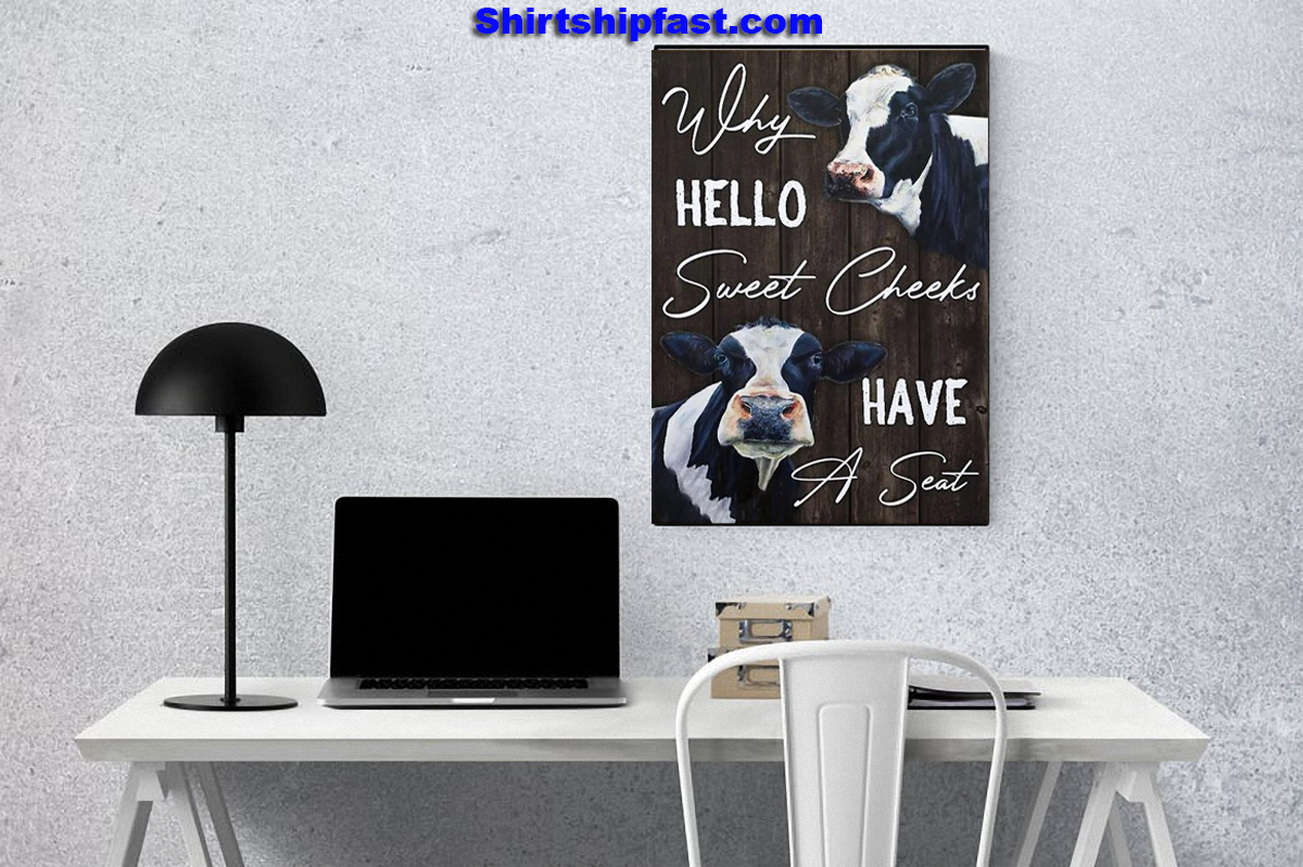 Dairy cattle why hello sweet cheeks have a seat canvas