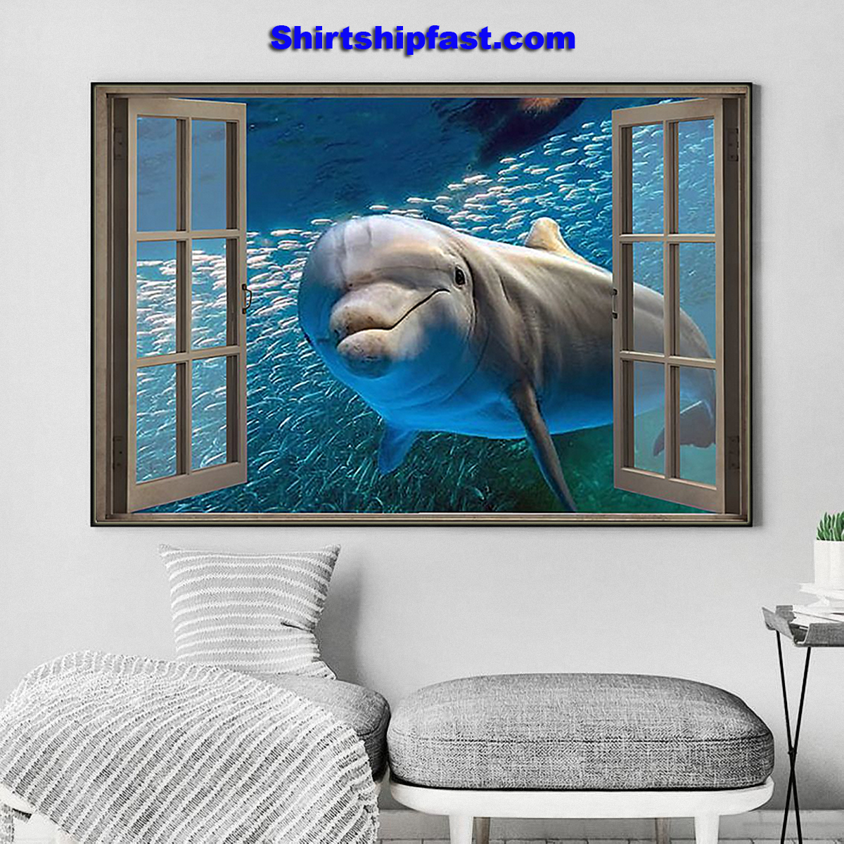 Dolphin window view poster - Picture 1
