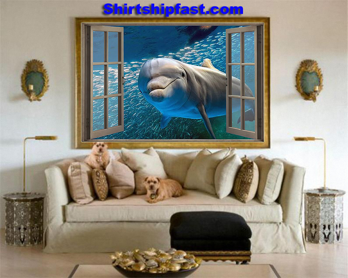 Dolphin window view poster - Picture 2