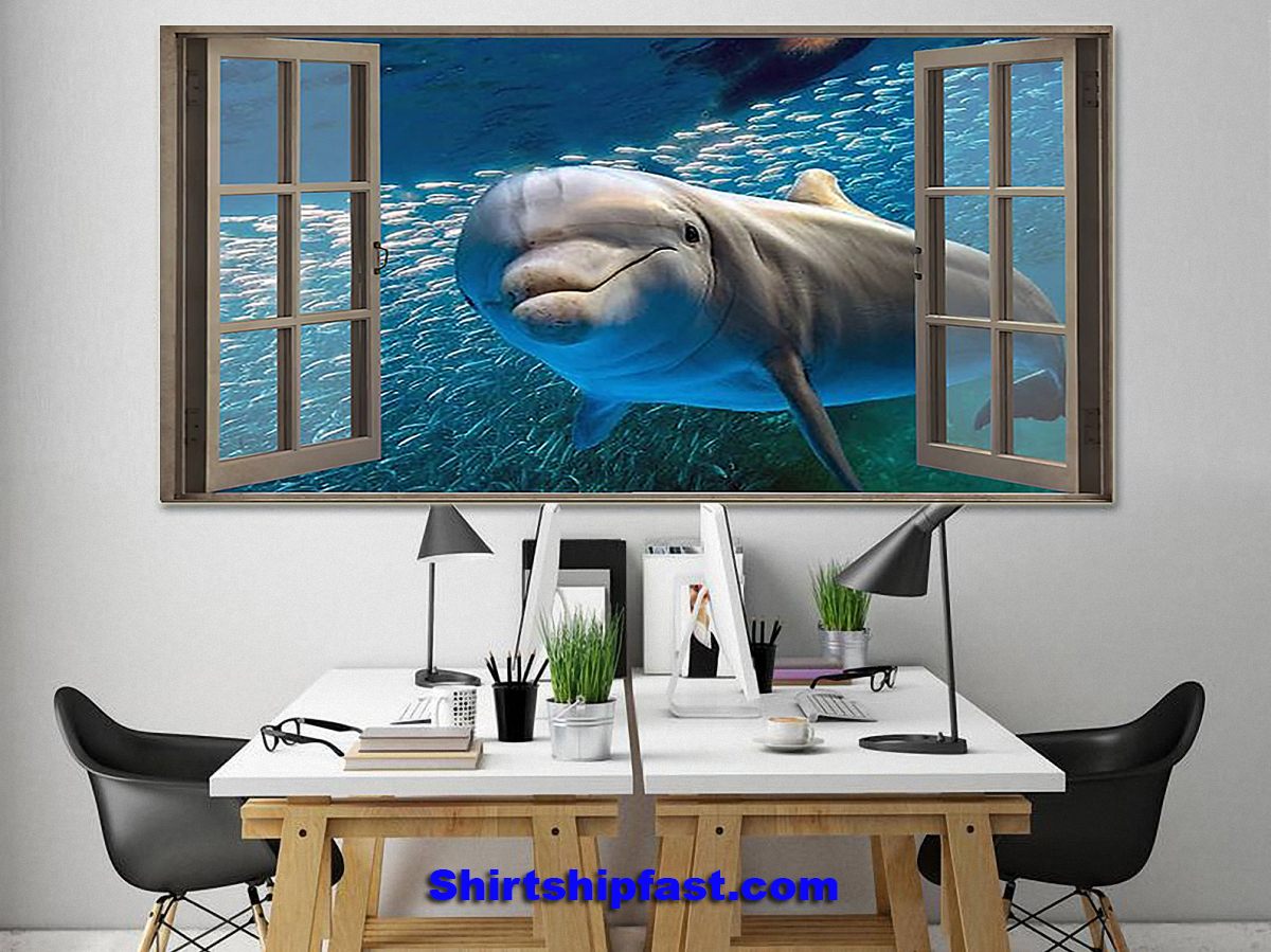 Dolphin window view poster - Picture 3