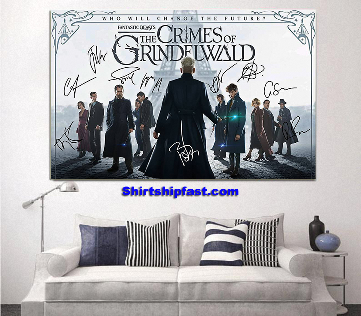 Fantatic beasts The crimes of Grindelwald signature poster - Picture 1