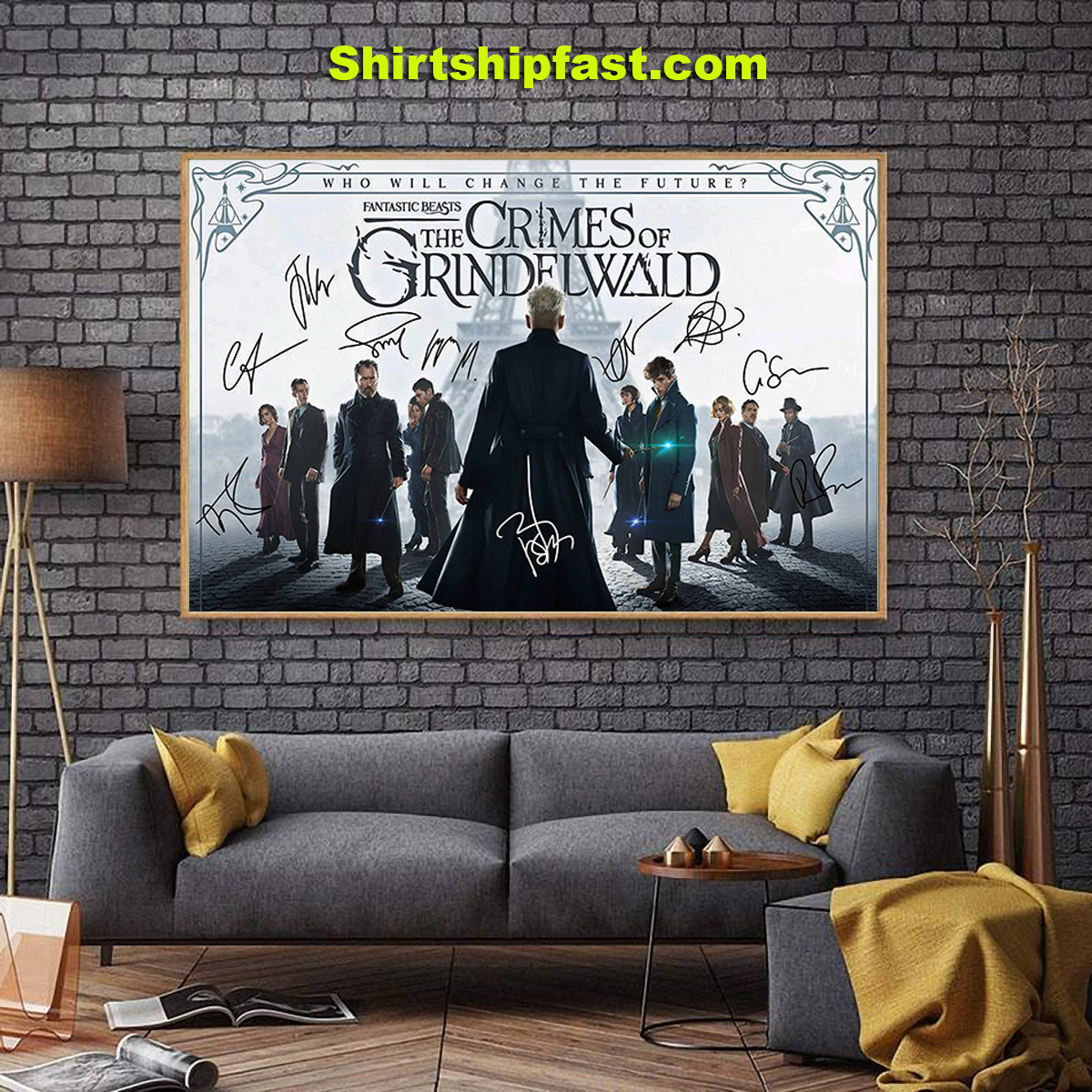 Fantatic beasts The crimes of Grindelwald signature poster - Picture 2