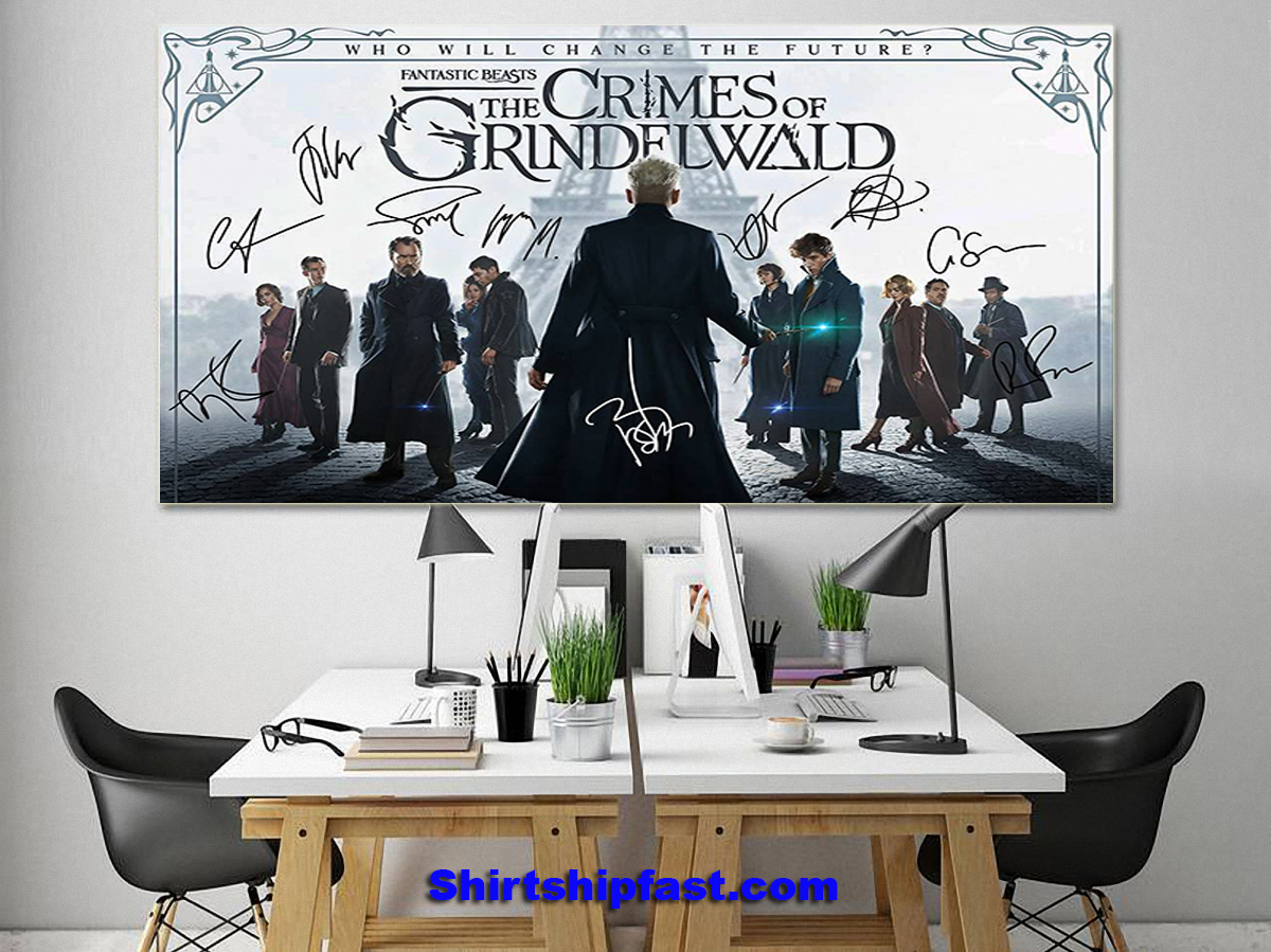 Fantatic beasts The crimes of Grindelwald signature poster