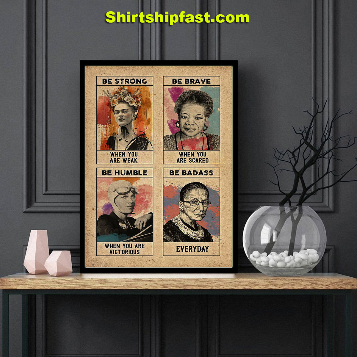 Feminist Frida kahlo be strong poster - Picture 3