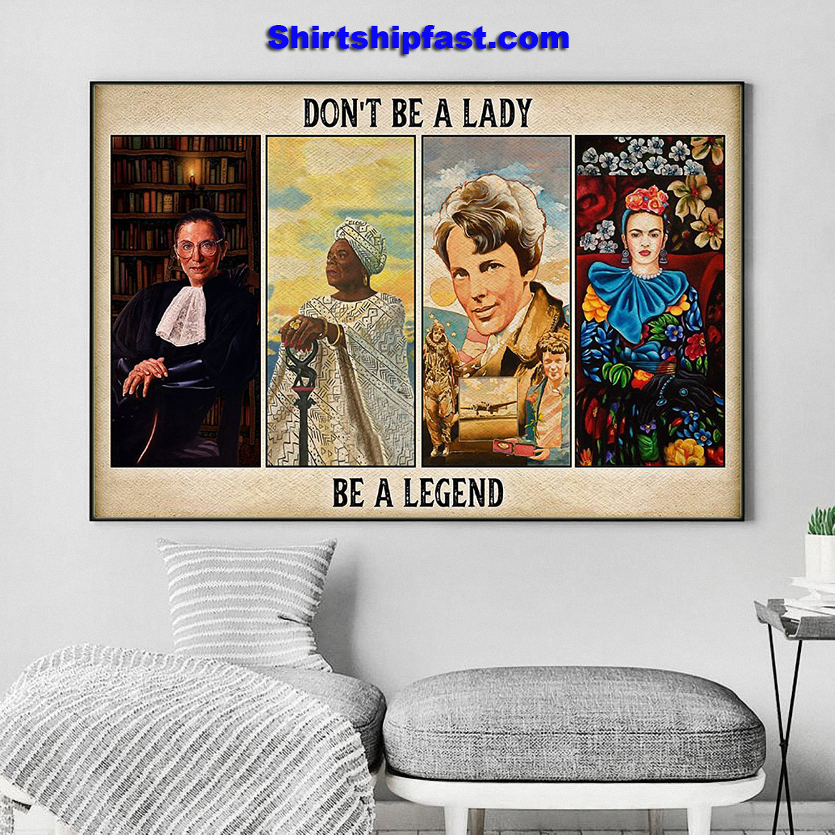 Feminists don't be a lady be a legend poster - Picture 3