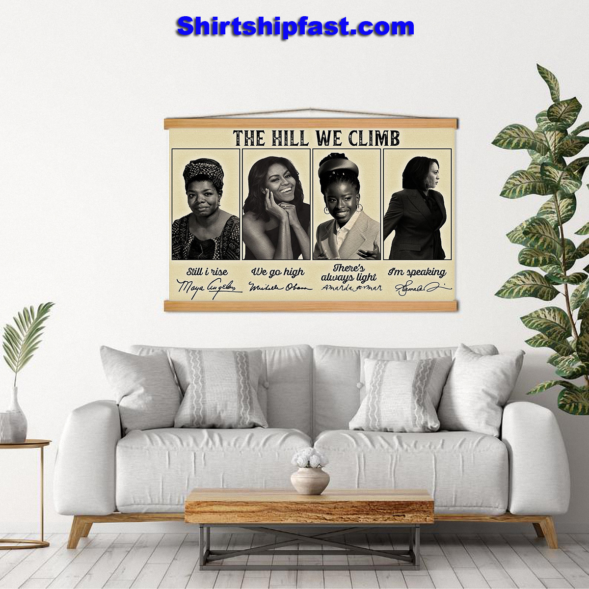 Feminists famous signature The hill we climb poster - Picture 3